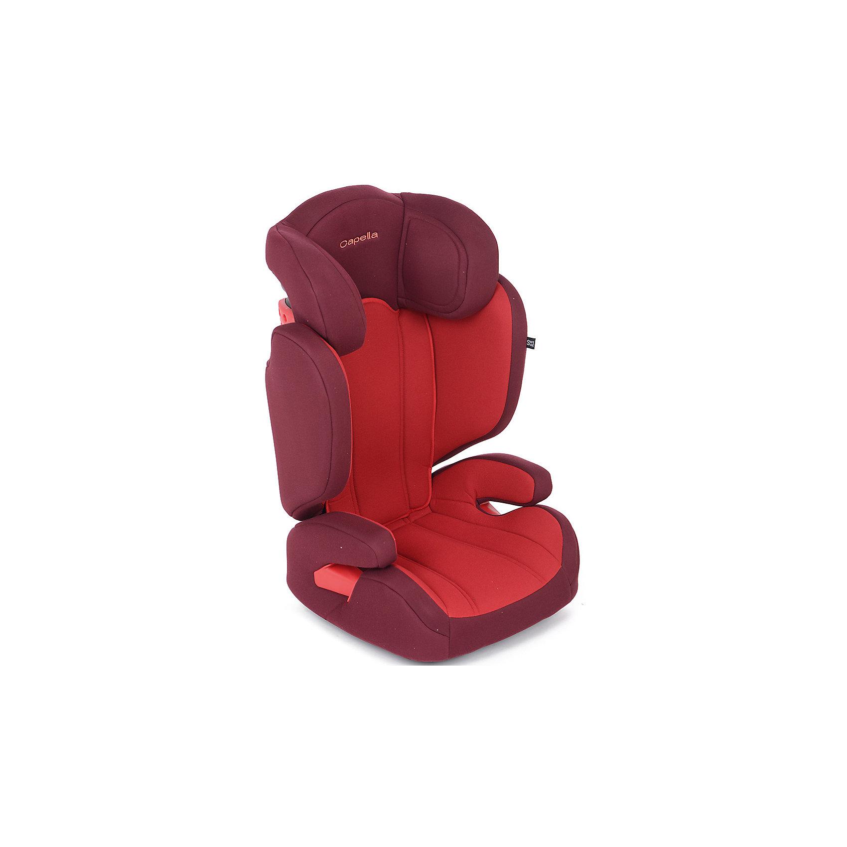 Автокресло 15-36 кг. CAPELLA, Chili Pepper, красный/малиновыйУдобное автокресло - необходимый атрибут современной семьи, в которой есть машина. Это высокотехнологичное надежное автокресло позволит перевозить ребенка, не беспокоясь при этом о его безопасности. Оно предназначено для предназначено для детей весом от 15 до 36 килограмм. Такое кресло обеспечит малышу не только безопасность, но и удобство (регулируемая высота и ширина, анатомическая форма). Ребенок надежно фиксируется в кресле и ездит с комфортом.<br>Автокресло устанавливают по ходу движения. Такое кресло дает возможность свободно путешествовать, ездить в гости и при этом  быть рядом с малышом. Конструкция - очень удобная и прочная. Изделие произведено из качественных и безопасных для малышей материалов, оно соответствуют всем современным требованиям безопасности. Оно отлично показало себя на краш-тестах.<br> <br>Дополнительная информация:<br><br>цвет: красный;<br>материал: текстиль, пластик;<br>вес ребенка:  от 15 до 36 кг;<br>регулировка наклона спинки;<br>регулировка высоты подголовника;<br>регулировка ширины сидения;<br>крепление автомобильным ремнем;<br>широкая мягкая спинка;<br>анатомичная форма;<br>дополнительная защита от боковых ударов;<br>съемный чехол;<br>соответствие стандартам ECE R44/04.<br><br>Автокресло 15-36 кг. CAPELLA, Chili Pepper, красный/малиновый от компании CAPELLA можно купить в нашем магазине.<br><br>Ширина мм: 730<br>Глубина мм: 560<br>Высота мм: 470<br>Вес г: 5250<br>Возраст от месяцев: 36<br>Возраст до месяцев: 144<br>Пол: Женский<br>Возраст: Детский<br>SKU: 4778449