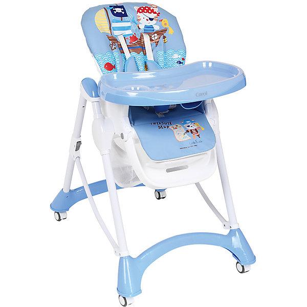 Стульчик для кормления, Corol, синий КОТ-ПИРАТСтульчики для кормления<br>Прочный и удобный стульчик для кормления позволит посадить ребенка, не беспокоясь при этом о его безопасности. Яркий цвет изделия привлечет внимание малыша. Эта модель очень удобна: угол наклона спинки регулируется, высота - тоже, предусмотрены два угла наклона подножки. <br>Двойной поднос может крепиться на задних ножках. Для удобства перемещения есть колесики с фиксаторами. Сиденье и спинка -  мягкие, конструкция  - очень устойчивая. Изделие произведено из качественных и безопасных для малышей материалов, оно соответствуют всем современным требованиям безопасности.<br> <br>Дополнительная информация:<br><br>цвет: синий;<br>принт с овечками;<br>материал: металл;<br>столик съемный, двойной;<br>вес: 9 кг;<br>регулировка по высоте: 7 положений;<br>количество положений спинки: 3;<br>пятиточечные ремни безопасности;<br>колеса;<br>возраст: от 6 до 36 месяцев;<br>размеры стола: 630х1090х900 мм.<br><br>Стульчик для кормления,  синий КОТ-ПИРАТ от компании Corol можно купить в нашем магазине.<br>Ширина мм: 1090; Глубина мм: 630; Высота мм: 435; Вес г: 8450; Возраст от месяцев: 6; Возраст до месяцев: 36; Пол: Мужской; Возраст: Детский; SKU: 4778478;