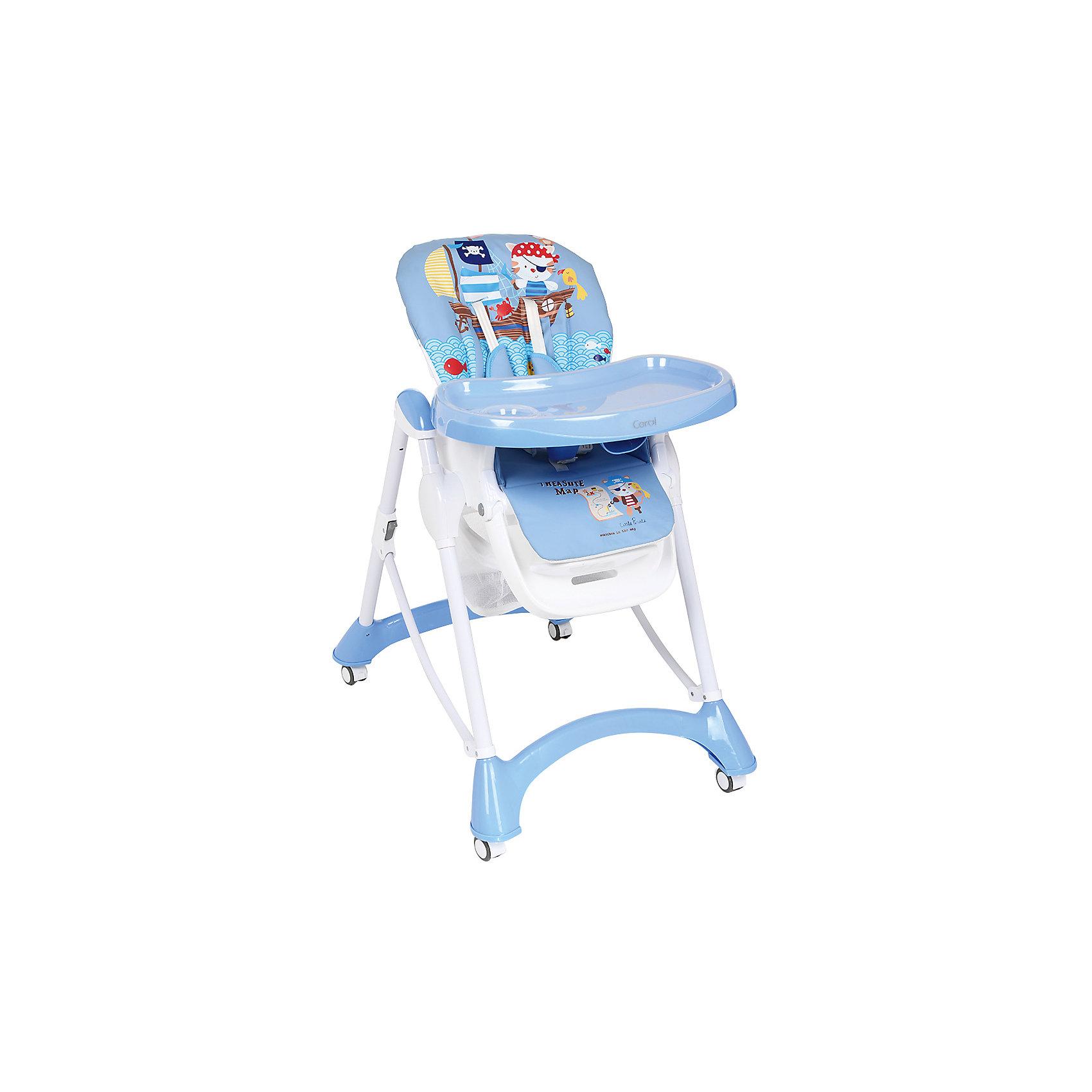 Стульчик для кормления, Corol, синий КОТ-ПИРАТ