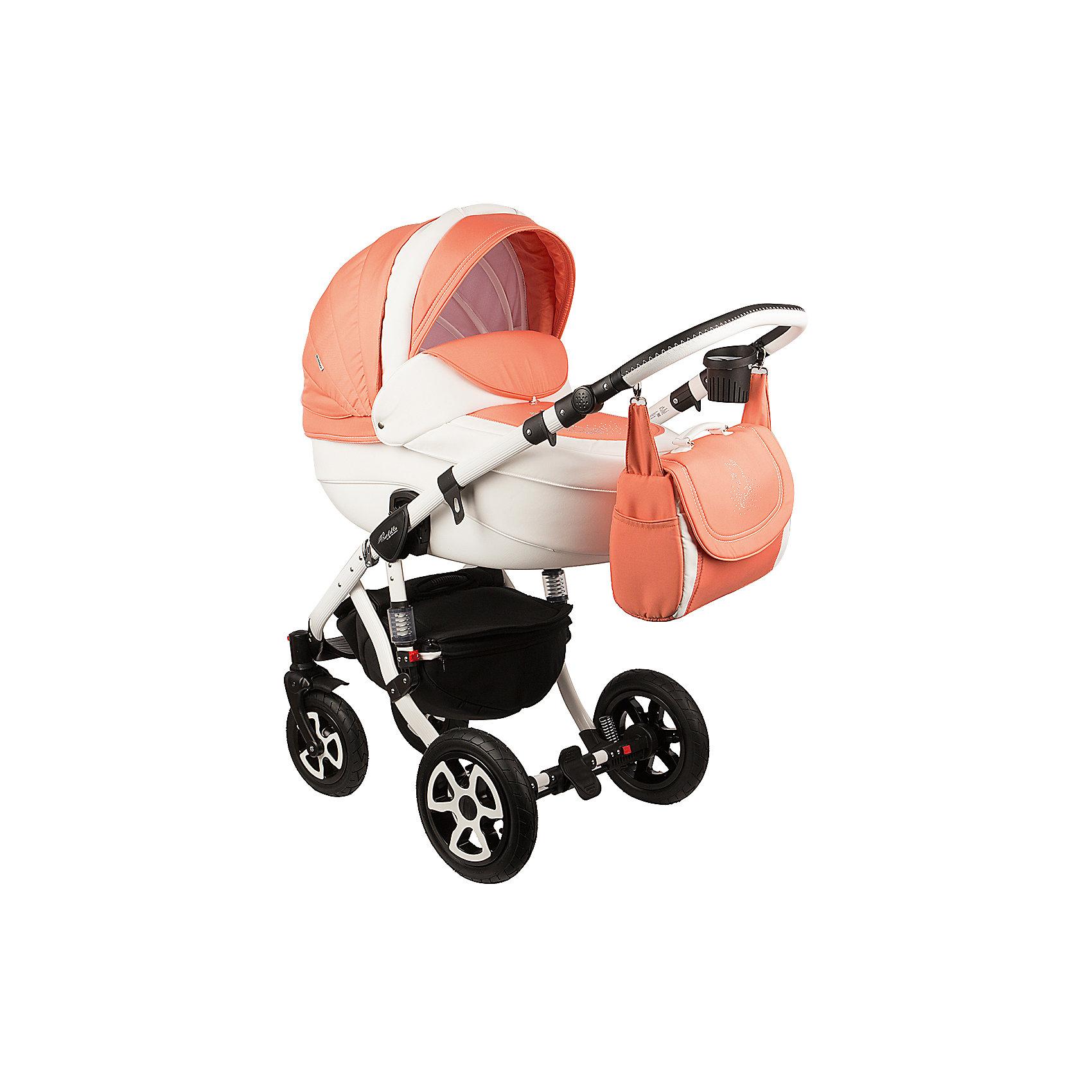 Коляска 2 в 1 Adamex Barletta, Лисёнок белый/оранжевыйКоляски 2 в 1<br>Стильная коляска выполнена в современном и удобном дизайне. Прочная и удобная коляска позволит перевозить ребенка, не беспокоясь при этом о его безопасности. Приятный цвет коляски практичен и универсален. За счет продуманной формы колес и амортизации коляска отлично будет ехать как по не ровной дороге, так и по снегу. Коляска легкая и прочная.<br>На коляске - колеса разного размера, поэтому конструкция - очень устойчивая. Модель дополнена 5-точечными ремнями безопасности. Изделие произведено из качественных и безопасных для малышей материалов, оно соответствуют всем современным требованиям безопасности.<br><br>Дополнительная информация:<br><br>цвет: белый, оранжевый;<br>механизм складывания: книжка; <br>тип колес: надувные; <br>пятиточечные ремни безопасности; <br>четыре положения спинки; <br>регулировка положений ручки и подножки; <br>материал рамы: алюминий; <br>съёмный бампер; <br>мягкие накладки на внутренних ремнях безопасности; <br>передние колеса поворотные с возможностью фиксации; <br>система амортизации - пружины;<br>вес: 15.4 кг; <br>размер коляски: 106х124х60 см. <br><br>Коляска 2 в 1 Barletta, Лисёнок белый/оранжевый от компании Adamex можно купить в нашем магазине.<br><br>Ширина мм: 970<br>Глубина мм: 600<br>Высота мм: 660<br>Вес г: 20700<br>Возраст от месяцев: 0<br>Возраст до месяцев: 36<br>Пол: Женский<br>Возраст: Детский<br>SKU: 4778498