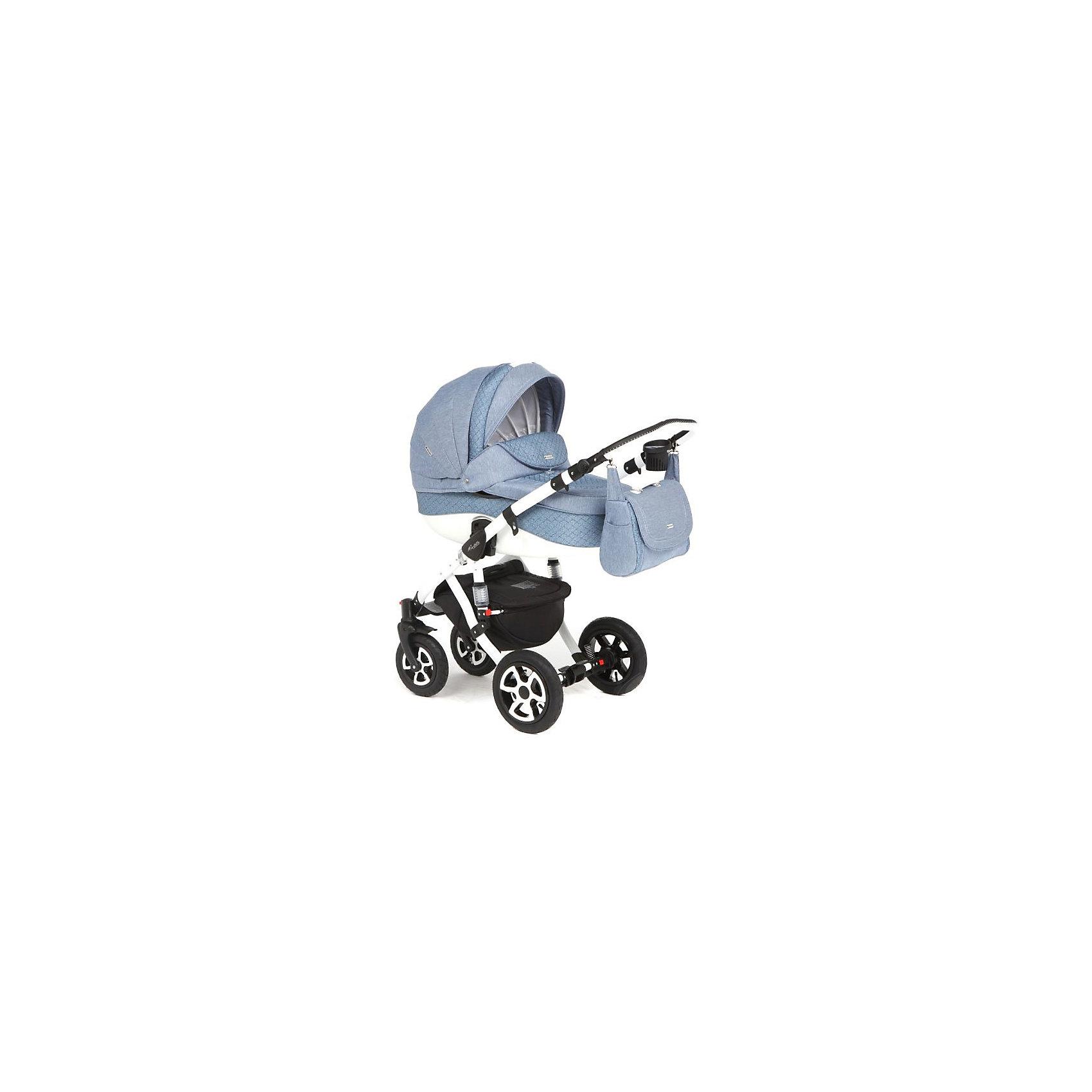 Коляска 2 в 1 Barletta, Adamex, синий джинсСтильная коляска выполнена в современном и удобном дизайне. Прочная и удобная коляска позволит перевозить ребенка, не беспокоясь при этом о его безопасности. Приятный цвет коляски практичен и универсален. За счет продуманной формы колес и амортизации коляска отлично будет ехать как по не ровной дороге, так и по снегу. Коляска легкая и прочная.<br>На коляске - колеса разного размера, поэтому конструкция - очень устойчивая. Модель дополнена 5-точечными ремнями безопасности. Изделие произведено из качественных и безопасных для малышей материалов, оно соответствуют всем современным требованиям безопасности.<br><br>Дополнительная информация:<br><br>цвет: синий;<br>механизм складывания: книжка; <br>тип колес: надувные; <br>пятиточечные ремни безопасности; <br>четыре положения спинки; <br>регулировка положений ручки и подножки; <br>материал рамы: алюминий; <br>съёмный бампер; <br>мягкие накладки на внутренних ремнях безопасности; <br>передние колеса поворотные с возможностью фиксации; <br>система амортизации - пружины;<br>вес: 15.4 кг; <br>размер коляски: 106х124х60 см. <br><br>Коляска 2 в 1 Barletta, синий джинс от компании Adamex можно купить в нашем магазине.<br><br>Ширина мм: 970<br>Глубина мм: 600<br>Высота мм: 660<br>Вес г: 20700<br>Возраст от месяцев: 0<br>Возраст до месяцев: 36<br>Пол: Мужской<br>Возраст: Детский<br>SKU: 4778500