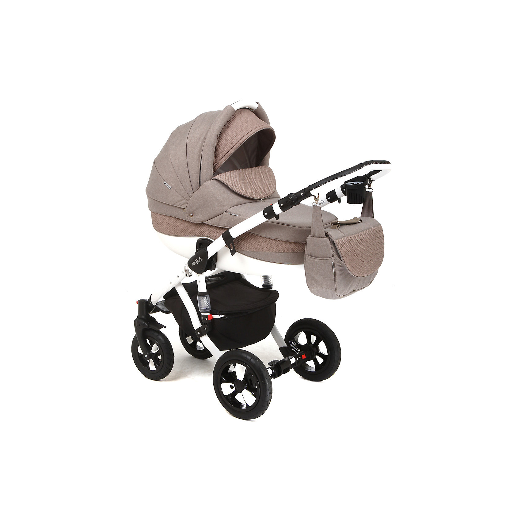 Коляска 2 в 1 Barletta, Adamex, бежевыйСтильная коляска выполнена в современном и удобном дизайне. Прочная и удобная коляска позволит перевозить ребенка, не беспокоясь при этом о его безопасности. Приятный цвет коляски практичен и универсален. За счет продуманной формы колес и амортизации коляска отлично будет ехать как по не ровной дороге, так и по снегу. Коляска легкая и прочная.<br>На коляске - колеса разного размера, поэтому конструкция - очень устойчивая. Модель дополнена 5-точечными ремнями безопасности. Изделие произведено из качественных и безопасных для малышей материалов, оно соответствуют всем современным требованиям безопасности.<br><br>Дополнительная информация:<br><br>цвет: бежевый;<br>механизм складывания: книжка; <br>тип колес: надувные; <br>пятиточечные ремни безопасности; <br>четыре положения спинки; <br>регулировка положений ручки и подножки; <br>материал рамы: алюминий; <br>съёмный бампер; <br>мягкие накладки на внутренних ремнях безопасности; <br>передние колеса поворотные с возможностью фиксации; <br>система амортизации - пружины;<br>вес: 15.4 кг; <br>размер коляски: 106х124х60 см. <br><br>Коляска 2 в 1 Barletta, бежевый от компании Adamex можно купить в нашем магазине.<br><br>Ширина мм: 970<br>Глубина мм: 600<br>Высота мм: 660<br>Вес г: 20700<br>Возраст от месяцев: 0<br>Возраст до месяцев: 36<br>Пол: Унисекс<br>Возраст: Детский<br>SKU: 4778503
