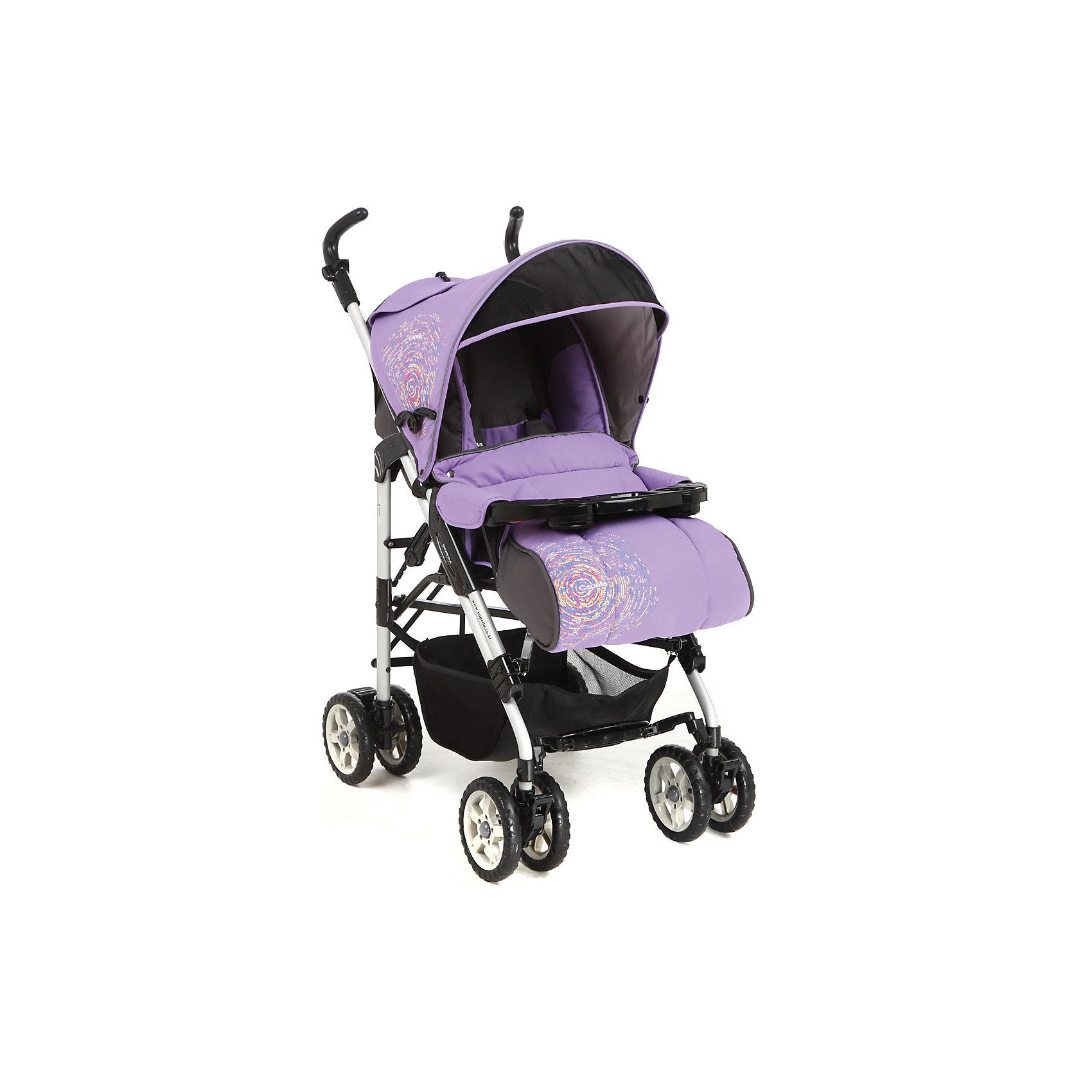 Коляска-трость Capella S-321, фиолетовыйКоляски-трости<br>Надежная и стильная прогулочная коляска выполнена в современном и удобном дизайне. Прочная и удобная коляска-трость позволит перевозить ребенка, не беспокоясь при этом о его безопасности. Приятный цвет коляски практичен и универсален. За счет продуманной формы колес и амортизации коляска отлично будет ехать как по не ровной дороге, так и по снегу. Коляска легкая и прочная.<br>Конструкция - очень устойчивая. Модель дополнена 5-точечными ремнями безопасности. Изделие произведено из качественных и безопасных для малышей материалов, оно соответствуют всем современным требованиям безопасности.<br><br>Дополнительная информация:<br><br>цвет: фиолетовый;<br>механизм складывания: трость; <br>возраст ребенка: от 6 месяцев;<br>вес коляски: 10,2 кг;<br>4 двойных колеса;<br>фиксация передних колес;<br>регулировка подножки по высоте;<br>ремни безопасности: пятиточечные;<br>регулировка ручки по высоте<br>дождевик;<br>москитная сетка;<br>раскладывается на 180 градусов;<br>положение лежа;<br>мягкая подвеска;<br>материал: пластик, металл, текстиль.<br><br>Прогулочную коляску S-321, фиолетовый от компании Capella можно купить в нашем магазине.<br><br>Ширина мм: 1000<br>Глубина мм: 530<br>Высота мм: 730<br>Вес г: 10000<br>Возраст от месяцев: 6<br>Возраст до месяцев: 36<br>Пол: Унисекс<br>Возраст: Детский<br>SKU: 4778511