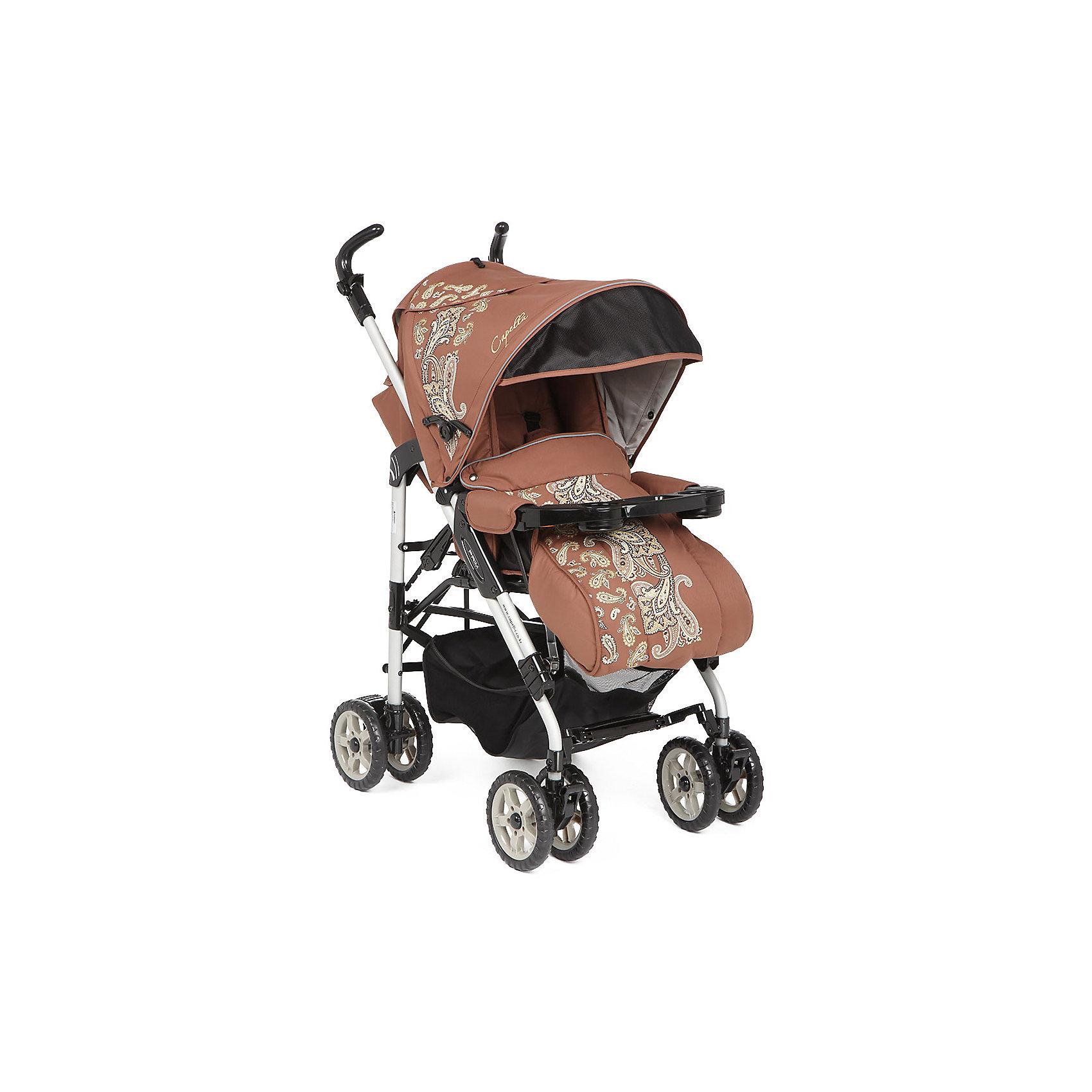 Коляска-трость Capella S-321, коричневыйКоляски-трости<br>Облегченная прогулочная коляска выполнена в современном и удобном дизайне. Прочная и удобная коляска-трость позволит перевозить ребенка, не беспокоясь при этом о его безопасности. Приятный цвет коляски практичен и универсален. За счет продуманной формы колес и амортизации коляска отлично будет ехать как по не ровной дороге, так и по снегу. Коляска легкая и прочная.<br>Конструкция - очень устойчивая. Модель дополнена 5-точечными ремнями безопасности. Изделие произведено из качественных и безопасных для малышей материалов, оно соответствуют всем современным требованиям безопасности.<br><br>Дополнительная информация:<br><br>цвет: коричневый;<br>механизм складывания: трость; <br>возраст ребенка: от 6 месяцев;<br>вес коляски: 10,2 кг;<br>4 двойных колеса;<br>фиксация передних колес;<br>регулировка подножки по высоте;<br>ремни безопасности: пятиточечные;<br>регулировка ручки по высоте<br>дождевик;<br>москитная сетка;<br>раскладывается на 180 градусов;<br>положение лежа;<br>мягкая подвеска;<br>материал: пластик, металл, текстиль.<br><br>Прогулочную коляску S-321, коричневый от компании Capella можно купить в нашем магазине.<br><br>Ширина мм: 1000<br>Глубина мм: 530<br>Высота мм: 730<br>Вес г: 10000<br>Возраст от месяцев: 6<br>Возраст до месяцев: 36<br>Пол: Унисекс<br>Возраст: Детский<br>SKU: 4778516