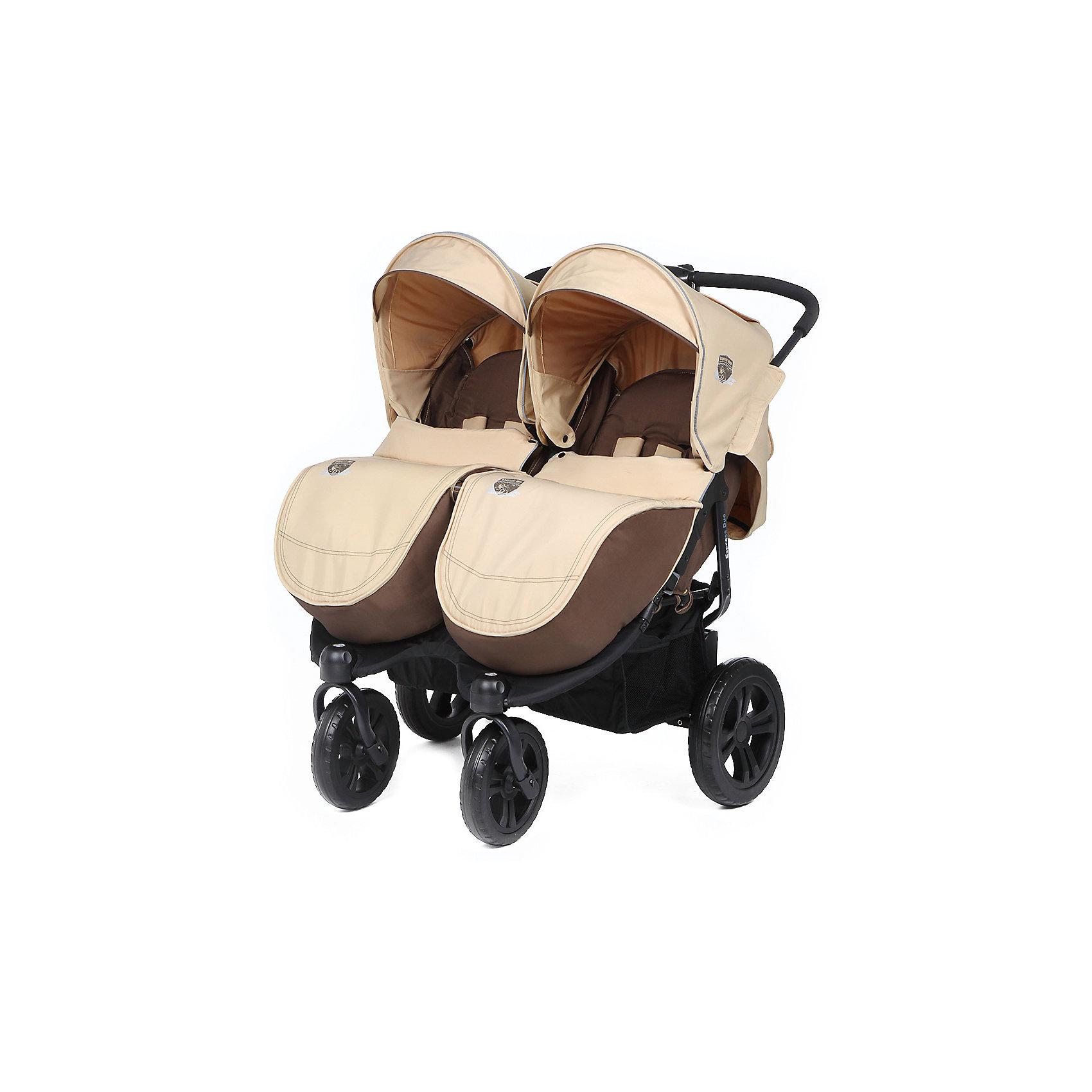 Прогулочная коляска для двойни ExspressDuo, Mobility One, бежевый от myToys