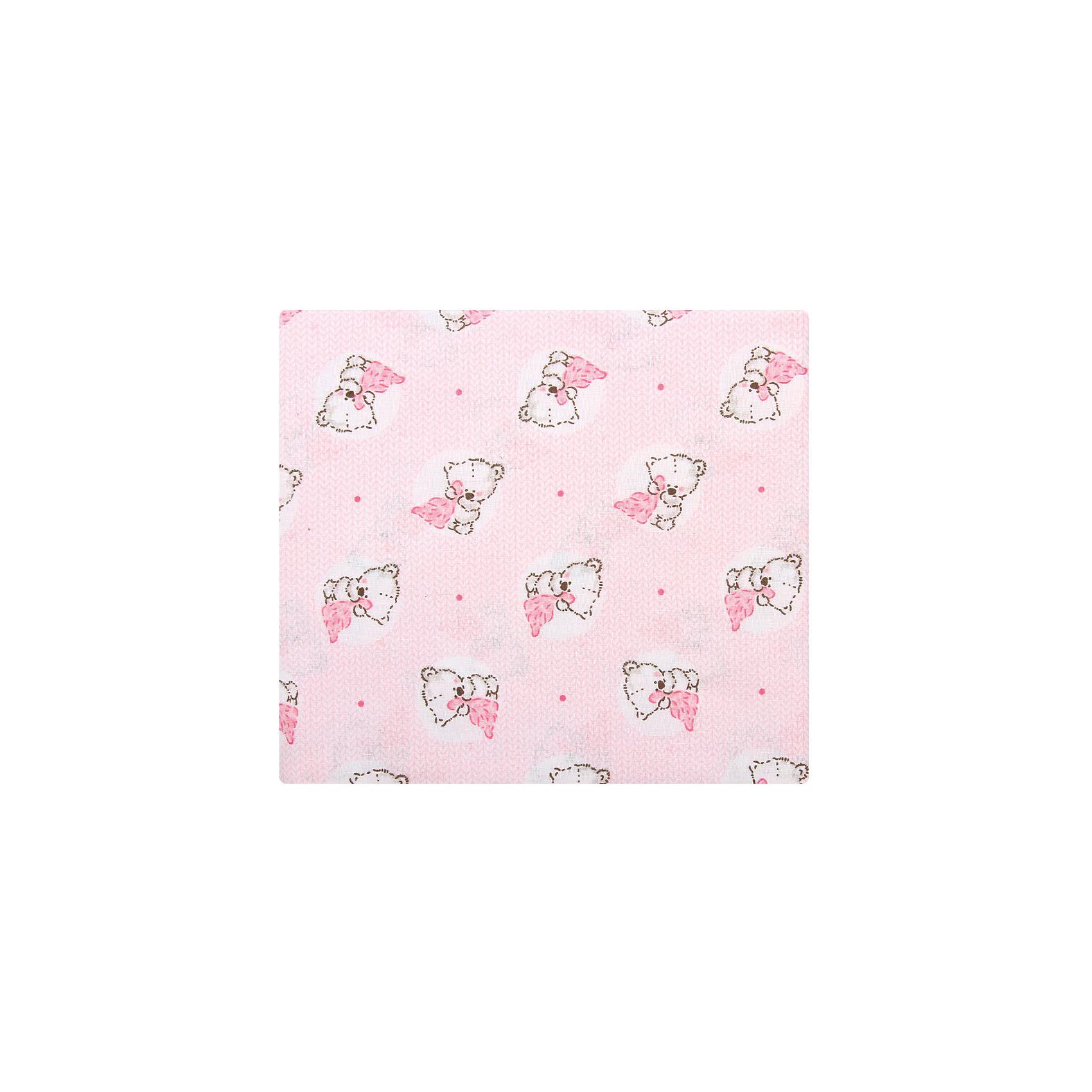 Простыня Мишки с пледом, 100*160, ЗАЙКА МОЯ, розовый