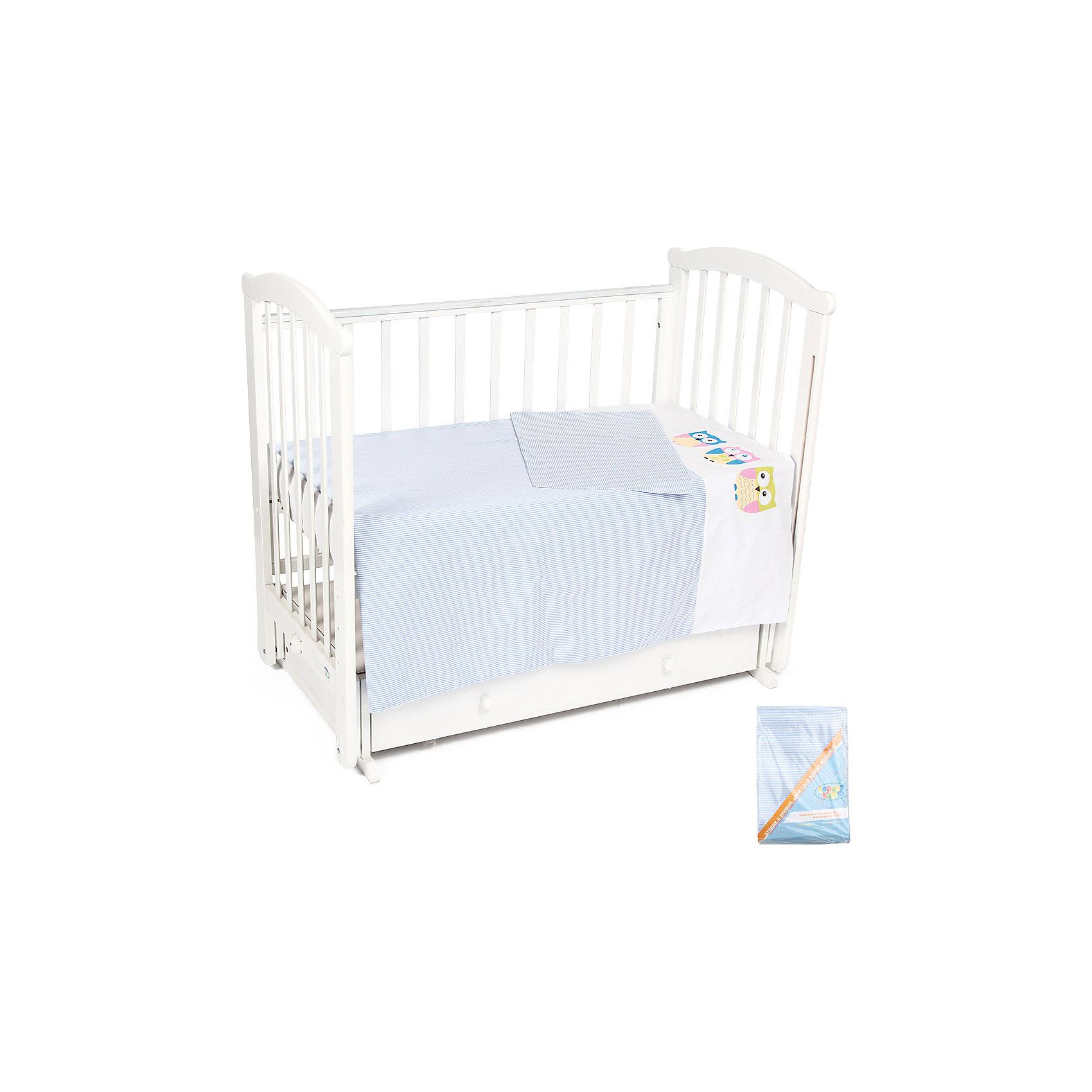 Постельное белье Совята 3 пред., Leader kids, синий3 предмета<br>Удобное правильно подобранное постельное белье - это залог крепкого сна ребенка и его хорошего самочувствия. Но постельное белье может при этом быть еще и красивым!<br>Этот набор выполнен из высококачественного гипоаллергенного материала - хлопка. Он приятен на ощупь, позволяет коже дышать, безопасен для детей. В этот комплект входит: простынь, наволочка, пододеяльник. Размер - стандартный, удобно заправляется. Изделие имеет приятную расцветку, декорировано симпатичным принтом. Подойдет к интерьеру различной расцветки.<br><br>Дополнительная информация:<br><br>материал: бязь (хлопок 100%);<br>наволочка: 40x60 см;<br>пододеяльник: 110x140 см;<br>простыня: 90x150 см;<br>принт;<br>цвет: синий.<br><br>Постельное белье Совята 3 пред. от компании Leader kids можно купить в нашем магазине.<br><br>Ширина мм: 370<br>Глубина мм: 200<br>Высота мм: 2700<br>Вес г: 1500<br>Возраст от месяцев: 0<br>Возраст до месяцев: 36<br>Пол: Мужской<br>Возраст: Детский<br>SKU: 4778537