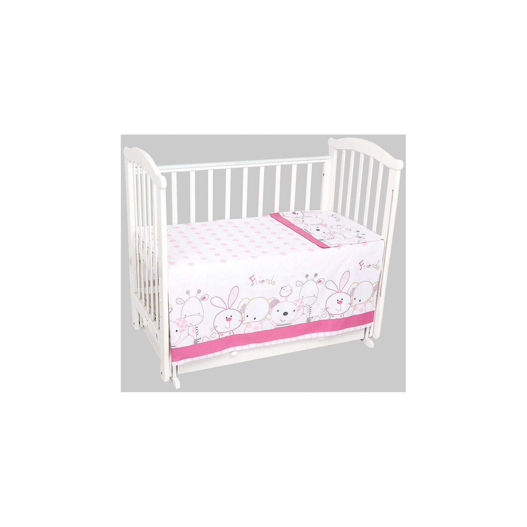 Постельное белье Сафари 3 пред., Leader kids, розовыйУдобное правильно подобранное постельное белье - это залог крепкого сна ребенка и его хорошего самочувствия. Но постельное белье может при этом быть еще и красивым!<br>Этот набор выполнен из высококачественного гипоаллергенного материала - хлопка. Он приятен на ощупь, позволяет коже дышать, безопасен для детей. В этот комплект входит: простынь, наволочка, пододеяльник. Размер - стандартный, удобно заправляется. Изделие имеет приятную расцветку, декорировано симпатичным принтом. Подойдет к интерьеру различной расцветки.<br><br>Дополнительная информация:<br><br>материал: бязь (хлопок 100%);<br>наволочка: 40x60 см;<br>пододеяльник: 110x140 см;<br>простыня: 90x150 см;<br>принт;<br>цвет: розовый.<br><br>Постельное белье Сафари 3 пред. от компании Leader kids можно купить в нашем магазине.<br><br>Ширина мм: 370<br>Глубина мм: 200<br>Высота мм: 2700<br>Вес г: 1500<br>Возраст от месяцев: 0<br>Возраст до месяцев: 36<br>Пол: Женский<br>Возраст: Детский<br>SKU: 4778540