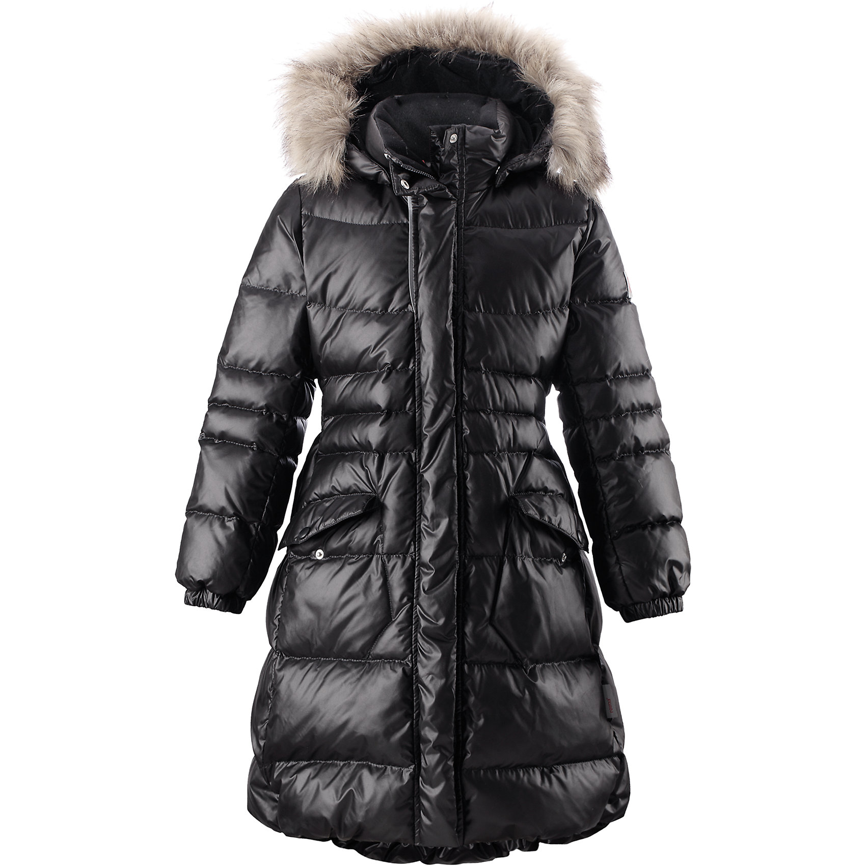 Пальто Satu для девочки ReimaОдежда<br>Пальто для девочки Reima<br>Куртка для подростков. Водоотталкивающий, ветронепроницаемый, «дышащий» и грязеотталкивающий материал. Крой для девочек. Гладкая подкладка из полиэстра. Безопасный съемный капюшон с отсоединяемой меховой каймой из искусственного меха. Эластичный пояс сзади. Эластичные подол и манжеты. Двухсторонняя молния по всей длине. Два кармана с клапанами. Безопасные светоотражающие детали. Петля для дополнительных светоотражающих деталей.<br>Уход:<br>Стирать по отдельности, вывернув наизнанку. Перед стиркой отстегните искусственный мех. Застегнуть молнии и липучки. Стирать моющим средством, не содержащим отбеливающие вещества. Полоскать без специального средства. Во избежание изменения цвета изделие необходимо вынуть из стиральной машинки незамедлительно после окончания программы стирки. Барабанное сушение при низкой температуре с 3 теннисными мячиками. Выверните изделие наизнанку в середине сушки.<br>Состав:<br>100% Полиэстер<br><br>Ширина мм: 356<br>Глубина мм: 10<br>Высота мм: 245<br>Вес г: 519<br>Цвет: черный<br>Возраст от месяцев: 60<br>Возраст до месяцев: 72<br>Пол: Женский<br>Возраст: Детский<br>Размер: 116,128,134,140,146,152,158,164,122,104,110<br>SKU: 4778594