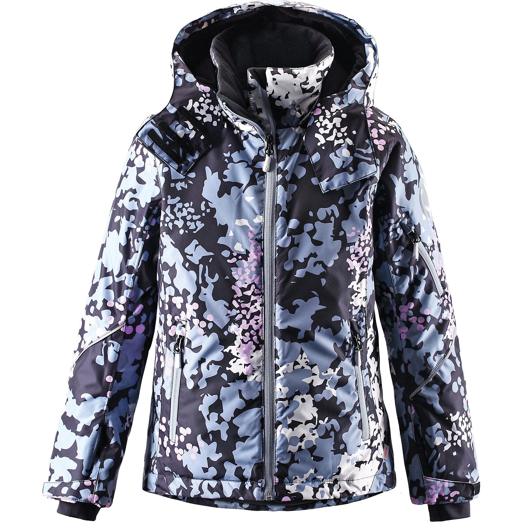 Куртка Glow для девочки ReimaКуртка для девочки Reima<br>Зимняя куртка для подростков. Основные швы проклеены и не пропускают влагу. Водо- и ветронепроницаемый, «дышащий» и грязеотталкивающий материал. Крой для девочек. Гладкая подкладка из полиэстра. Безопасный, отстегивающийся и регулируемый капюшон. Регулируемые манжеты и внутренние манжеты из лайкры. Регулируемый подол, снегозащитный манжет на талии. Новая усовершенствованная молния — больше не застревает! Карманы на молнии, карман для skipass на рукаве. Карман для очков и внутренний нагрудный карман. Принт по всей поверхности.<br>Утеплитель: Reima® Flex insulation,140 g<br>Уход:<br>Стирать по отдельности, вывернув наизнанку. Застегнуть молнии и липучки. Стирать моющим средством, не содержащим отбеливающие вещества. Полоскать без специального средства. Во избежание изменения цвета изделие необходимо вынуть из стиральной машинки незамедлительно после окончания программы стирки. Сушить при низкой температуре.<br>Состав:<br>100% Полиамид, полиуретановое покрытие<br><br>Ширина мм: 356<br>Глубина мм: 10<br>Высота мм: 245<br>Вес г: 519<br>Цвет: голубой<br>Возраст от месяцев: 36<br>Возраст до месяцев: 48<br>Пол: Женский<br>Возраст: Детский<br>Размер: 104,164,140,110,116,122,128,134,146,152,158<br>SKU: 4778633