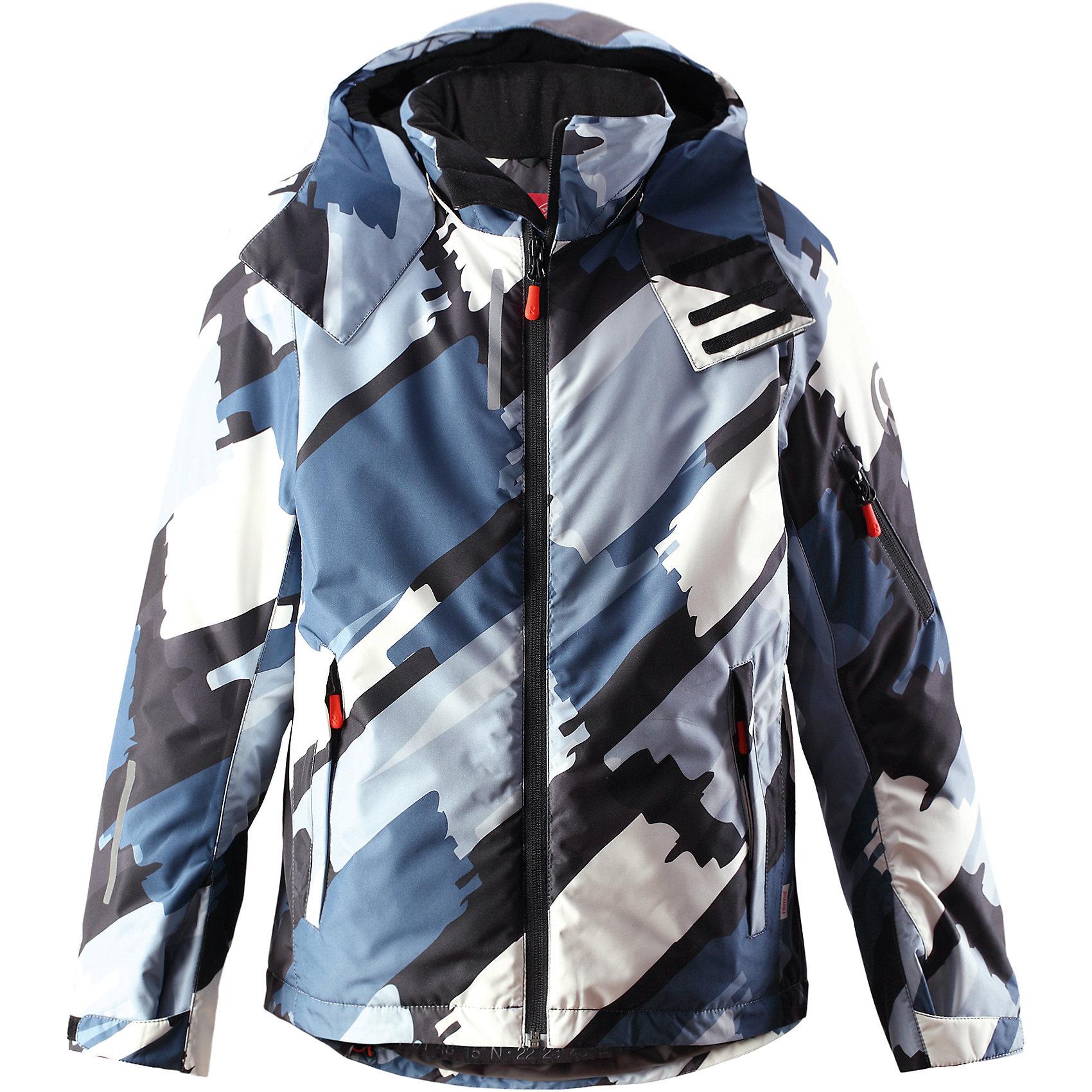 Куртка Detour для мальчика ReimaКуртка для мальчика Reima<br>Зимняя куртка для подростков. Основные швы проклеены и не пропускают влагу. Водо- и ветронепроницаемый, «дышащий» и грязеотталкивающий материал. Гладкая подкладка из полиэстра. Безопасный, отстегивающийся и регулируемый капюшон. Регулируемые манжеты и внутренние манжеты из лайкры. Регулируемый подол, снегозащитный манжет на талииНовая усовершенствованная молния — больше не застревает! Карманы на молнии, карман для skipass на рукаве. Карман для очков и внутренний нагрудный карман. Принт по всей поверхности.<br>Утеплитель: Reima® Flex insulation,140 g<br>Уход:<br>Стирать по отдельности, вывернув наизнанку. Застегнуть молнии и липучки. Стирать моющим средством, не содержащим отбеливающие вещества. Полоскать без специального средства. Во избежание изменения цвета изделие необходимо вынуть из стиральной машинки незамедлительно после окончания программы стирки. Сушить при низкой температуре.<br>Состав:<br>100% Полиамид, полиуретановое покрытие<br><br>Ширина мм: 356<br>Глубина мм: 10<br>Высота мм: 245<br>Вес г: 519<br>Цвет: синий<br>Возраст от месяцев: 36<br>Возраст до месяцев: 48<br>Пол: Мужской<br>Возраст: Детский<br>Размер: 104,164,110,116,122,152,158,128,134,140,146<br>SKU: 4778669