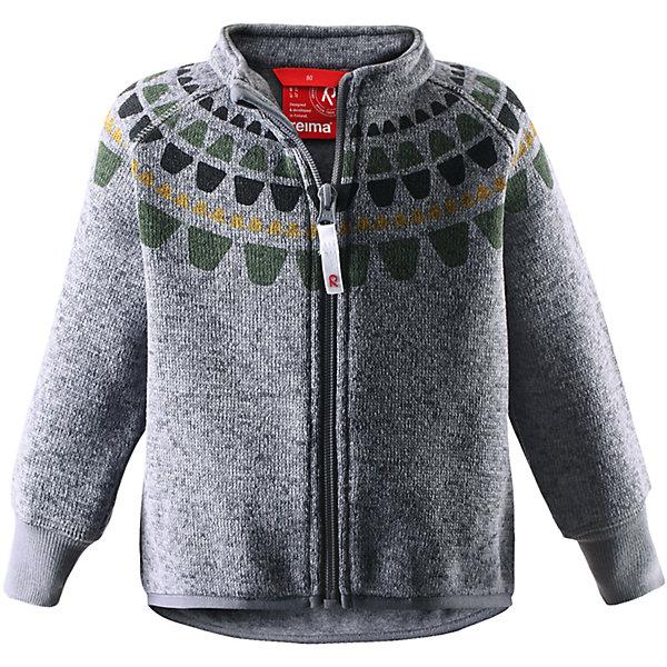 Толстовка флисовая Ornament ReimaТолстовки, свитера, кардиганы<br>Толстовка флисовая  Reima<br>Флисовая куртка для малышей. Мягкий меланжевый флисовый трикотаж: выглядит, как обычный свитер, и обладает всеми преимуществами флисаБыстро сохнет и сохраняет тепло. Эластичные манжеты. Удлиненный подол сзади. Молния по всей длине с защитой подбородка. Декоративный принт.<br>Уход:<br>Стирать по отдельности, вывернув наизнанку. Застегнуть молнии. Стирать моющим средством, не содержащим отбеливающие вещества. Полоскать без специального средства.  Сушить при низкой температуре.<br>Состав:<br>100% Полиэстер<br><br>Ширина мм: 356<br>Глубина мм: 10<br>Высота мм: 245<br>Вес г: 519<br>Цвет: серый<br>Возраст от месяцев: 9<br>Возраст до месяцев: 12<br>Пол: Мужской<br>Возраст: Детский<br>Размер: 80,74,68,98,92,86<br>SKU: 4778933