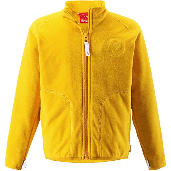 Толстовка флисовая Inrun ReimaТолстовки<br>Куртка флисовая  Reima<br>Флисовая куртка для детей. Выводит влагу наружу и быстро сохнет. Теплый, легкий и быстросохнущий поларфлис. Может пристегиваться к верхней одежде Reima® кнопками Play Layers®. Эластичные манжеты. Удлиненный подол сзади. Молния по всей длине с защитой подбородка. Боковые карманы. Аппликация.<br>Уход:<br>Стирать по отдельности, вывернув наизнанку. Застегнуть молнии. Стирать моющим средством, не содержащим отбеливающие вещества. Полоскать без специального средства.  Сушить при низкой температуре.<br>Состав:<br>100% Полиэстер<br><br>Ширина мм: 356<br>Глубина мм: 10<br>Высота мм: 245<br>Вес г: 519<br>Цвет: желтый<br>Возраст от месяцев: 36<br>Возраст до месяцев: 48<br>Пол: Унисекс<br>Возраст: Детский<br>Размер: 104,98,92,140,134,128,122,116,110<br>SKU: 4779142