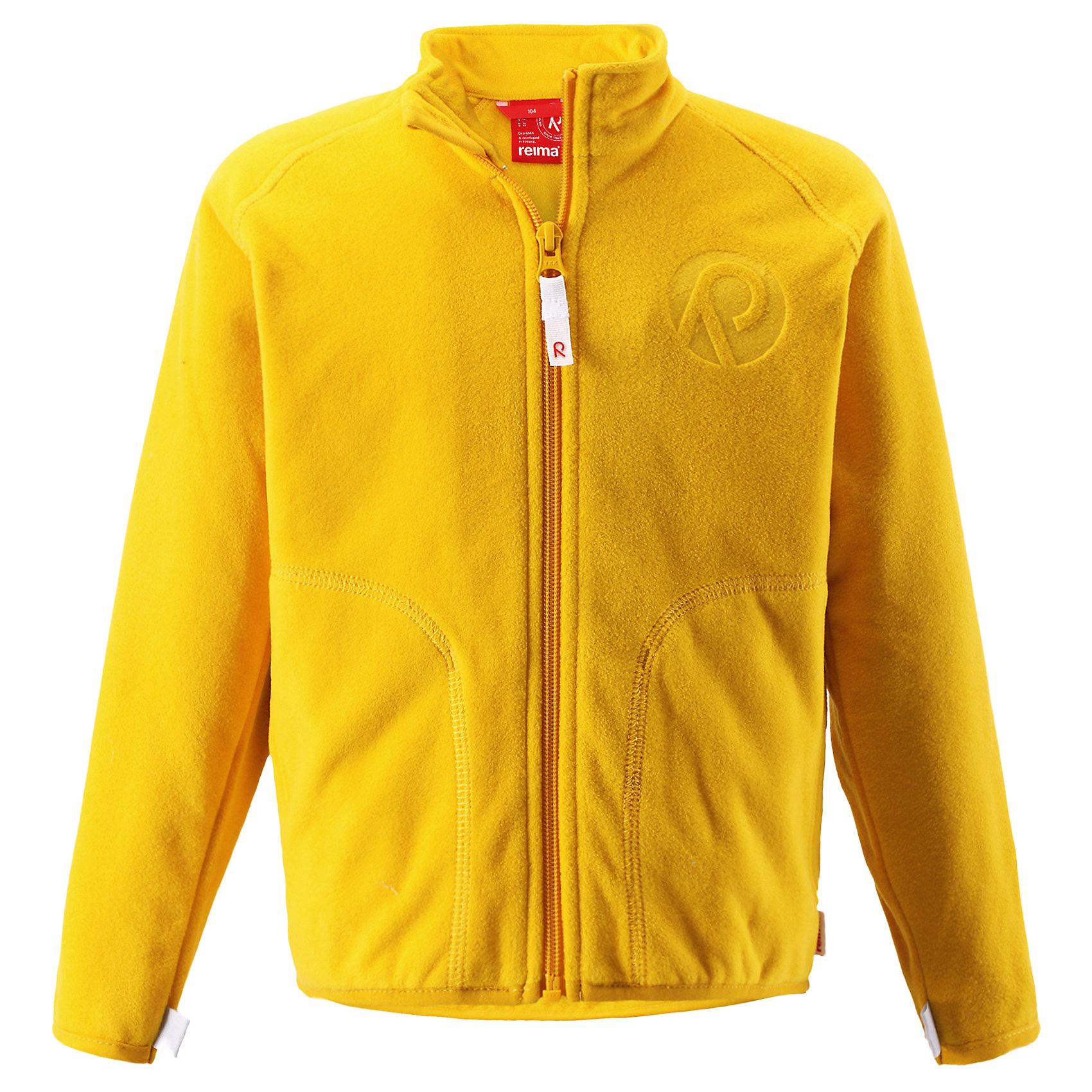Толстовка флисовая Inrun ReimaТолстовки<br>Куртка флисовая  Reima<br>Флисовая куртка для детей. Выводит влагу наружу и быстро сохнет. Теплый, легкий и быстросохнущий поларфлис. Может пристегиваться к верхней одежде Reima® кнопками Play Layers®. Эластичные манжеты. Удлиненный подол сзади. Молния по всей длине с защитой подбородка. Боковые карманы. Аппликация.<br>Уход:<br>Стирать по отдельности, вывернув наизнанку. Застегнуть молнии. Стирать моющим средством, не содержащим отбеливающие вещества. Полоскать без специального средства.  Сушить при низкой температуре.<br>Состав:<br>100% Полиэстер<br><br>Ширина мм: 356<br>Глубина мм: 10<br>Высота мм: 245<br>Вес г: 519<br>Цвет: желтый<br>Возраст от месяцев: 108<br>Возраст до месяцев: 120<br>Пол: Унисекс<br>Возраст: Детский<br>Размер: 140,92,98,104,110,116,122,128,134<br>SKU: 4779142
