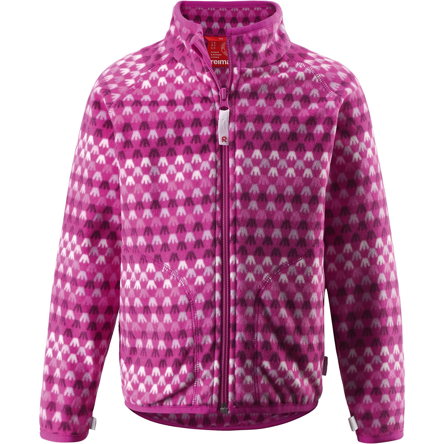 Куртка флисовая Steppe для девочки ReimaКуртка флисовая  Reima<br>Флисовая куртка для детей. Выводит влагу наружу и быстро сохнет. Теплый, легкий и быстросохнущий поларфлис. Может пристегиваться к верхней одежде Reima® кнопками Play Layers®. Эластичные манжеты. Удлиненный подол сзади. Молния по всей длине с защитой подбородка. Боковые карманы. Принт по всей поверхности.<br>Уход:<br>Стирать по отдельности, вывернув наизнанку. Застегнуть молнии. Стирать моющим средством, не содержащим отбеливающие вещества. Полоскать без специального средства.  Сушить при низкой температуре.<br>Состав:<br>100% Полиэстер<br><br>Ширина мм: 356<br>Глубина мм: 10<br>Высота мм: 245<br>Вес г: 519<br>Цвет: розовый<br>Возраст от месяцев: 36<br>Возраст до месяцев: 48<br>Пол: Женский<br>Возраст: Детский<br>Размер: 104,116,122,128,134,140,110,92,98<br>SKU: 4779236