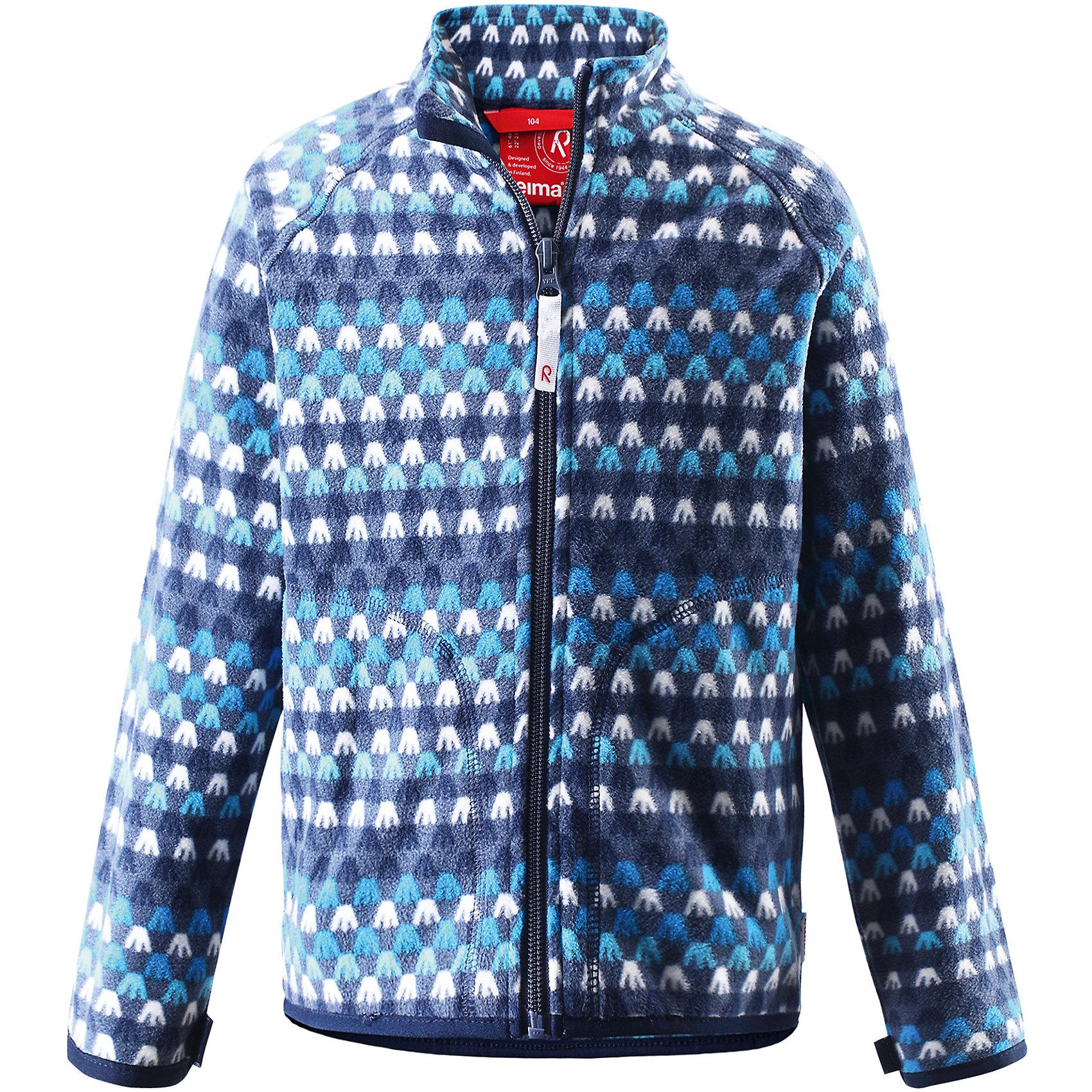 Толстовка флисовая Steppe ReimaТолстовки<br>Толстовка флисовая  Reima<br>Флисовая куртка для детей. Выводит влагу наружу и быстро сохнет. Теплый, легкий и быстросохнущий поларфлис. Может пристегиваться к верхней одежде Reima® кнопками Play Layers®. Эластичные манжеты. Удлиненный подол сзади. Молния по всей длине с защитой подбородка. Боковые карманы. Принт по всей поверхности.<br>Уход:<br>Стирать по отдельности, вывернув наизнанку. Застегнуть молнии. Стирать моющим средством, не содержащим отбеливающие вещества. Полоскать без специального средства.  Сушить при низкой температуре.<br>Состав:<br>100% Полиэстер<br><br>Ширина мм: 356<br>Глубина мм: 10<br>Высота мм: 245<br>Вес г: 519<br>Цвет: синий<br>Возраст от месяцев: 18<br>Возраст до месяцев: 24<br>Пол: Унисекс<br>Возраст: Детский<br>Размер: 92,140,98,104,110,116,122,128,134<br>SKU: 4779256