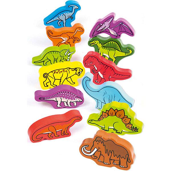 Деревянная игрушка Динозавры, HapeДеревянные фигурки<br>Эти яркие динозавры познакомят малыша с многообразием доисторического мира. С ними можно разыгрывать различные сценки и придумывать собственные истории. Фигурки выполнены из высококачественной древесины и покрыты стойкой краской, которая безопасна для ребенка.<br><br>Дополнительная информация:<br><br>- Возраст: от 1 до 3 лет<br>- В комплекте: 12 фигурок динозавров<br>- Материал: дерево<br>- Размер: 4х4х31 см<br>- Вес: 0.22 кг<br><br>Деревянную игрушку Динозавры, Hape можно купить в нашем интернет-магазине.<br><br>Ширина мм: 40<br>Глубина мм: 40<br>Высота мм: 310<br>Вес г: 225<br>Возраст от месяцев: 12<br>Возраст до месяцев: 36<br>Пол: Унисекс<br>Возраст: Детский<br>SKU: 4779530