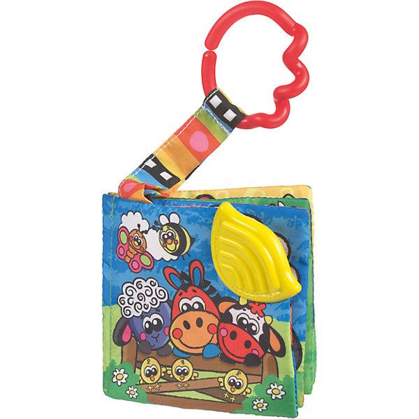 Книжка-игрушка Ферма, PlaygroРазвивающие игрушки<br>Эта книжка-прорезыватель выполнена в виде красочной фермы с изображением животных. Каждая страница книги уникальна и имеет свои встроенные детали, такие как пищалочки, прорезыватели и шуршащие элементы. Многофункциональная книжка «Ферма» создана для веселых игр и всестороннего развития Вашего ребенка.<br><br>Дополнительная информация:<br><br>- Возраст: от 3 месяцев до 2 лет<br>- Материал: текстиль, пластик<br>- Размер: 18х2х12 см<br>- Вес: 0.04 кг<br><br>Книжку-игрушку Ферма, Playgro можно купить в нашем интернет-магазине.<br><br>Ширина мм: 180<br>Глубина мм: 25<br>Высота мм: 120<br>Вес г: 42<br>Возраст от месяцев: 3<br>Возраст до месяцев: 24<br>Пол: Унисекс<br>Возраст: Детский<br>SKU: 4779535