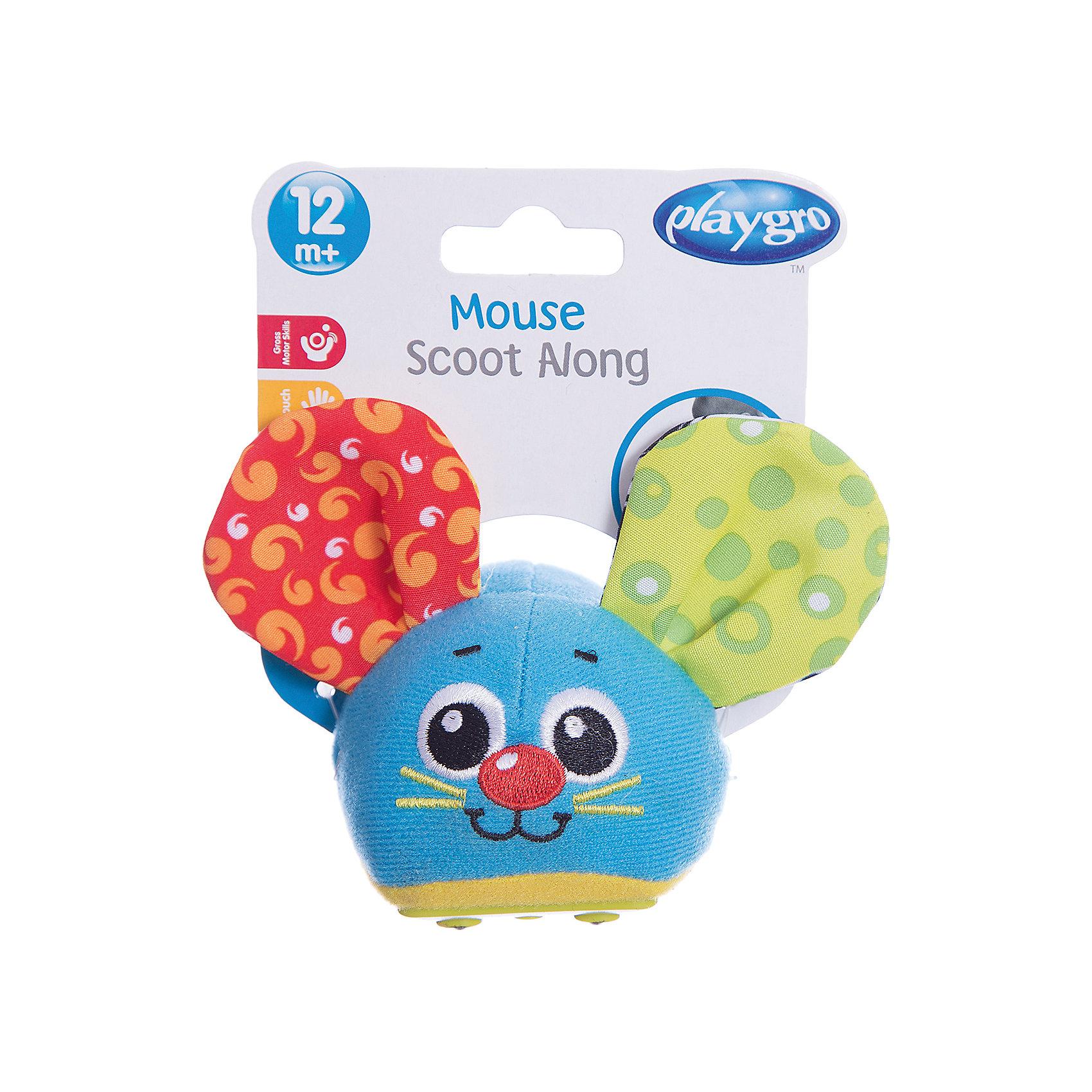 Игрушка инерционная Мышка, PlaygroРазвивающие игрушки<br>Яркая и симпатичная игрушка Мышка может издавать забавные звуки и вибрировать. Для того чтобы мышка поехала вперед, ее нужно оттянуть и отпустить. Игрушка поможет ребенку развить двигательную активность, а встроенные звуки будут стимулировать слуховое восприятие.<br><br>Дополнительная информация:<br><br>- Возраст: от 6 месяцев до 3 лет<br>- Материал: пластик, текстиль<br>- Размер: 8х7х8 см<br>- Вес: 0.05 кг<br><br>Игрушку инерционную Мышка, Playgro можно купить в нашем интернет-магазине.<br><br>Ширина мм: 80<br>Глубина мм: 70<br>Высота мм: 80<br>Вес г: 50<br>Возраст от месяцев: 6<br>Возраст до месяцев: 36<br>Пол: Унисекс<br>Возраст: Детский<br>SKU: 4779538