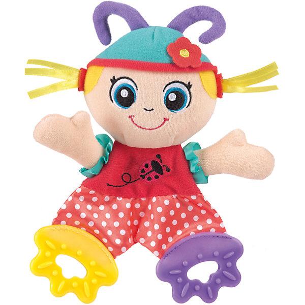 Мягкая игрушка Божья Коровка, PlaygroИгрушки для новорожденных<br>Мягкая игрушка Божья Коровка выполнена из мягкого велюра разных цветов. Благодаря частям из мягкого пластика она может использоваться в качестве прорезывателя, который снимет неприятные ощущения при появлении первых молочных зубов.<br><br>Дополнительная информация:<br><br>- Возраст: от 3 месяцев до 2 лет<br>- Материал: текстиль, пластик<br>- Размер: 13х4х24 см<br>- Вес: 0.06 кг<br><br>Мягкую игрушку Божья Коровка, Playgro можно купить в нашем интернет-магазине.<br><br>Ширина мм: 130<br>Глубина мм: 42<br>Высота мм: 240<br>Вес г: 60<br>Возраст от месяцев: 3<br>Возраст до месяцев: 24<br>Пол: Женский<br>Возраст: Детский<br>SKU: 4779541