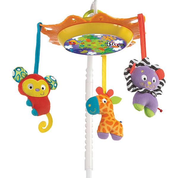 Музыкальная карусель, PlaygroИгрушки для новорожденных<br>Эта красивая и музыкальная подвеска легко крепится на бортик детской кроватки. При вращении карусели проигрывается мелодия и горит подсветка, которая создаст спокойствие и уют в детской спальне. Малыш будет с интересом наблюдать за двигающимися фигурками животных и слушать приятную музыку.<br><br>Дополнительная информация:<br><br>- Возраст: от 0 до 12 месяцев <br>- Материал: текстиль, пластик<br>- В комплекте: 3 игрушки, 2 дуги, музыкальный блок, крепеж<br>- Питание: 3 х АА 1,5V батарейки (в комплект не входят)<br>- Количество мелодий: 1 (длительность - 10 минут)<br>- Размер упаковки: 44х33х8 см<br>- Вес: 1.1 кг<br><br>Музыкальную карусель, Playgro можно купить в нашем интернет-магазине.<br>Ширина мм: 440; Глубина мм: 80; Высота мм: 330; Вес г: 1190; Возраст от месяцев: 0; Возраст до месяцев: 12; Пол: Унисекс; Возраст: Детский; SKU: 4779546;
