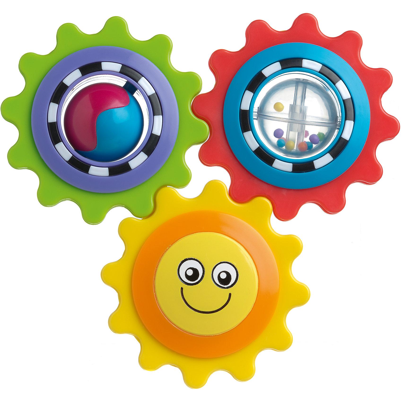 Игрушка развивающая Веселое солнышко, PlaygroИгрушка Веселое солнышко не только развеселит кроху, но и будет развивать его пространственное представление и воображение. Яркие и подвижные шестеренки будут концентрировать внимание малыша на мелких деталях. А благодаря безопасному зеркальцу на обратной стороне игрушки он сможет любоваться своим отражением.<br><br>Дополнительная информация:<br><br>- Возраст: от 9 месяцев до 2 лет<br>- Материал: пластик<br>- Размер: 8х1х22 см<br>- Вес: 0.11 кг<br><br>Игрушку развивающую Веселое солнышко, Playgro можно купить в нашем интернет-магазине.<br><br>Ширина мм: 80<br>Глубина мм: 10<br>Высота мм: 220<br>Вес г: 110<br>Возраст от месяцев: 9<br>Возраст до месяцев: 36<br>Пол: Унисекс<br>Возраст: Детский<br>SKU: 4779548