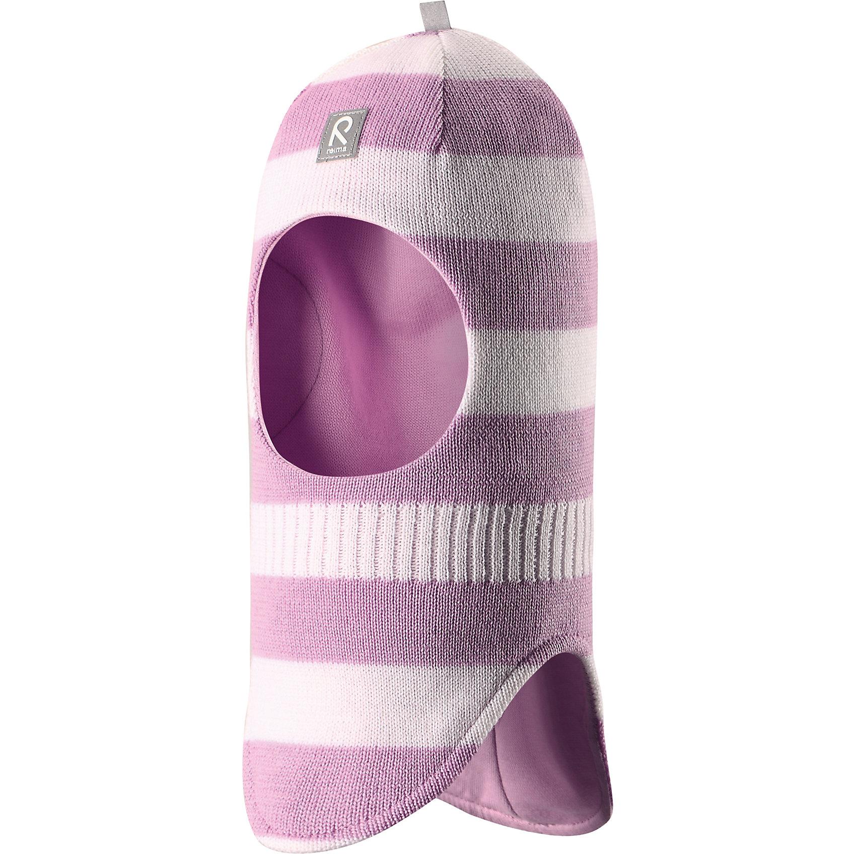 Шапка-шлем Starrie для девчоки ReimaШапка  Reima<br>Шапка-шлем для малышей. Мягкая ткань из мериносовой шерсти для поддержания идеальной температуры тела. Теплая шерстяная вязка (волокно). Товар сертифицирован Oeko-Tex, класс 1, одежда для малышей. Ветронепроницаемые вставки в области ушей. Мягкая подкладка из хлопка и эластана. Светоотражающий элемент спереди.<br>Уход:<br>Стирать по отдельности, вывернув наизнанку. Придать первоначальную форму вo влажном виде. Возможна усадка 5 %.<br>Состав:<br>100% Шерсть<br><br>Ширина мм: 89<br>Глубина мм: 117<br>Высота мм: 44<br>Вес г: 155<br>Цвет: розово-белый<br>Возраст от месяцев: 48<br>Возраст до месяцев: 84<br>Пол: Женский<br>Возраст: Детский<br>Размер: 54,46,48,50,52<br>SKU: 4779550