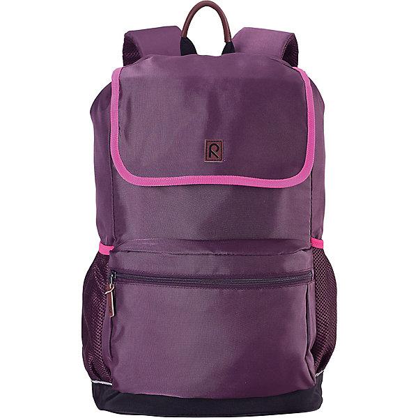 Рюкзак Pakaten для девочки ReimaАксессуары<br>Характеристики товара:<br><br>• цвет: фиолетовый;<br>• материал: 100% полиуретан;<br>• водоотталкивающий материал;<br>• объем: 16 литров;<br>• размер: 29х17х46 см;<br>• эргономичный рюкзак;<br>• застежка: молния, шнурок-утяжка со стопером;<br>• удобные стеганые задние панели способствуют дополнительной амортизации;<br>• напечатанная табличка для имени;<br>• съемная нагрудная лямка для распределения веса;<br>• регулируемые эргономичные стеганые плечевые ремешки;<br>• водонепроницаемое дно;<br>• карман для ноутбука;<br>• не содержит ПВХ;<br>• светоотражающие детали;<br>• страна бренда: Финляндия;<br>• страна изготовитель: Китай.<br><br>Классический рюкзак максимальной функциональности. Он идеально подходит для школьников и студентов, поскольку имеет замечательную эргономичную конструкцию<br><br>Рюкзак Pakaten от финского бренда Reima (Рейма) можно купить в нашем интернет-магазине.<br>Ширина мм: 170; Глубина мм: 157; Высота мм: 67; Вес г: 117; Цвет: лиловый; Возраст от месяцев: 36; Возраст до месяцев: 144; Пол: Женский; Возраст: Детский; Размер: one size; SKU: 4779572;