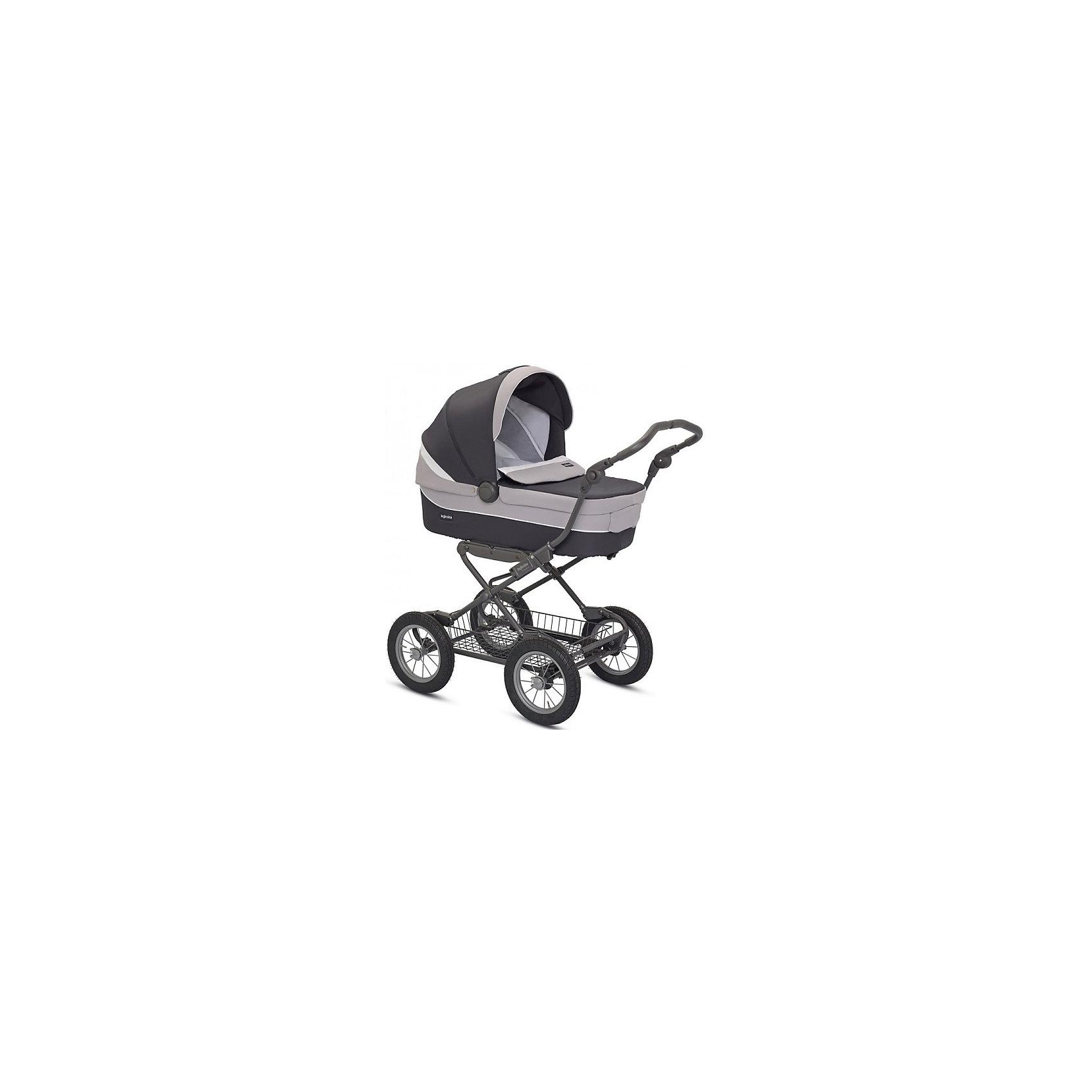 Коляска-люлька Inglesina Sofia, Grafite, на шасси Ergobike SlateКоляски для новорожденных<br>Коляска-люлька Sofia - прекрасный вариант для мам и малышей! Шасси с системой амортизации и большие надувные колеса способствуют хорошей проходимости и комфорту ребенка на любой дорожной поверхности. Люлька Inglesina Sofia оснащена системой Easy Clip, которая позволяет по желанию мамы или малыша устанавливать люльку или прогулочный блок лицом к маме или по ходу движения. Внутренняя обивка выполнена из натурального хлопка. Некоторые тканевые элементы съемные. При необходимости вы можете постирать их в холодной воде при температуре не более 30 градусов. Дно люльки имеет специальные отверстия, через которые внутрь проникает воздух (механизм регулирования притока воздуха расположен на дне корзины). Благодаря этому вашему малышу будет уютно и тепло спать в коляске в любое время года. Люлька Inglesina Sofia легко устанавливается в автомобиле с помощью системы креплений Kit Auto (приобретается отдельно), и Вы можете не беспокоиться за безопасность вашего малыша в дальних поездках.<br><br>Дополнительная информация:<br><br>- Материал: пластик, текстиль, резина, алюминий.<br>- Количество колес: 4 (надувные).<br>- Размер шасси в сложенном виде:  43 х  83 см.<br>- Размер шасси в разложенном виде:  57.7 х  104 х  75/111 см. <br>- Механизм складывания: книжка. <br>- Вес шасси : 8.7 кг.<br>- Размер спального места: 35 х 22 х 75 см. <br>- Вес люльки: 5,5 кг.<br>- Система Easy Clip.<br>- Система вентиляции. <br>- Регулируемое изголовье.<br>- Корзина для покупок.<br>- Сумка в комплекте. <br><br>Коляску-люльку Sofia, Inglesinaна (Инглезина), Grafite, шасси Ergobike Slate, можно купить в нашем магазине.<br><br>Ширина мм: 1440<br>Глубина мм: 570<br>Высота мм: 1390<br>Вес г: 20650<br>Цвет: графит<br>Возраст от месяцев: 0<br>Возраст до месяцев: 6<br>Пол: Унисекс<br>Возраст: Детский<br>SKU: 4779606