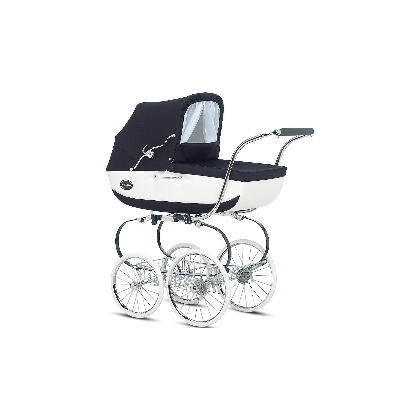 Коляска-люлька Inglesina Classica, Nappa, на шасси Balestrino ChromeBlueКоляски для новорожденных<br>Коляска-люлька Classica, Inglesinaна, Pesca, на шасси Balestrino Chrome/Ivory - красивый, стильный и практичный вариант для малышей и их мам. Модель оснащена регулируемым изголовьем и стояночным тормозом, приводимым в действие нажатием ногой на педаль. Элегантная коляска с деревянным корпусом выполнена в классическом английском стиле. Люлька оснащена системой Standard, которая позволяет по желанию мамы или малыша устанавливать люльку или прогулочный блок лицом к маме или по ходу движения. Внутренняя обивка выполнена из натурального хлопка. Некоторые тканевые элементы съемные. При необходимости вы можете постирать их в холодной воде при температуре не более 30 градусов. Дно люльки имеет специальные отверстия, через которые внутрь проникает воздух (механизм регулирования притока воздуха расположен на дне корзины). Благодаря этому вашему малышу будет уютно и тепло спать в коляске в любое время года. Шасси с системой амортизации и большие колеса разного диаметра способствуют хорошей проходимости и комфорту ребенка на любой дорожной поверхности. <br><br>Дополнительная информация:<br><br>- Материал: сталь, пластик, дерево, резина, текстиль.<br>- Количество колес: 4.<br>- Диаметр передних колес: 35 см<br>- Диаметр задних колес: 40 см<br>- Съемные колеса.<br>- Размер в разложенном виде: 52х98х100 см.<br>- Размер в сложенном виде: 52х50х75 см.<br>- Внутренний размер люльки : 33х20х73 см<br>- Внешний размер люльки: 81х37х22 см.<br>- Вес люльки: 7,8 кг<br>- Вес коляски: 18,5 кг<br>- Механизм складывания: книжка.<br>- Система крепления Standard. <br>- Система вентиляции. <br>- Регулируемое изголовье.<br>- Корзина для покупок.<br><br>Коляску-люльку Classica, Inglesinaна (Инглезина), Nappa, на шасси Balestrino Chrome/Ivory можно купить в нашем магазине.<br><br>Ширина мм: 1040<br>Глубина мм: 620<br>Высота мм: 1710<br>Вес г: 22400<br>Возраст от месяцев: 0<br>Возраст до месяцев: 6<br