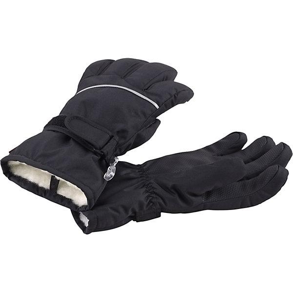 Перчатки Harald для мальчика ReimaПерчатки и варежки<br>Перчатки  Reima<br>Зимние перчатки для детей. Водонепроницаемый материал, вставки отсутствуют — товар не является водонепроницаемым. Водо- и ветронепроницаемый и грязеотталкивающий материал. Накладки на ладонях, кончиках пальцев и больших пальцах. Теплая ворсистая подкладка из ткани из смеси шерсти. Средняя степень утепления. Простая застежка на липучке. Логотип Reima® сбоку. Светоотражающие полосы.<br>Утеплитель: Reima® Comfortinsulation,80 g<br>Уход:<br>Стирать по отдельности. Стирать моющим средством, не содержащим отбеливающие вещества. Полоскать без специального средства. Сушить при низкой температуре. <br>Состав:<br>100% Полиамид, полиуретановое покрытие<br><br>Ширина мм: 162<br>Глубина мм: 171<br>Высота мм: 55<br>Вес г: 119<br>Цвет: черный<br>Возраст от месяцев: 144<br>Возраст до месяцев: 168<br>Пол: Мужской<br>Возраст: Детский<br>Размер: 8,3,7,6,5,4<br>SKU: 4779771