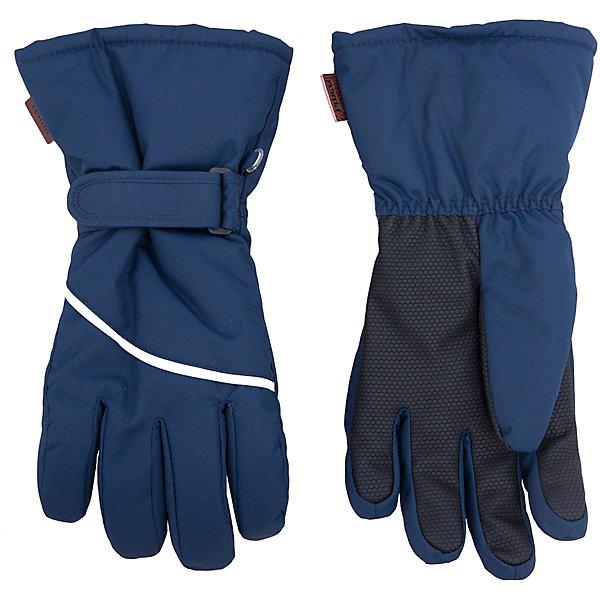 Перчатки Harald для мальчика ReimaПерчатки, варежки<br>Перчатки  Reima<br>Зимние перчатки для детей. Водонепроницаемый материал, вставки отсутствуют — товар не является водонепроницаемым. Водо- и ветронепроницаемый и грязеотталкивающий материал. Накладки на ладонях, кончиках пальцев и больших пальцах. Теплая ворсистая подкладка из ткани из смеси шерсти. Средняя степень утепления. Простая застежка на липучке. Логотип Reima® сбоку. Светоотражающие полосы.<br>Утеплитель: Reima® Comfortinsulation,80 g<br>Уход:<br>Стирать по отдельности. Стирать моющим средством, не содержащим отбеливающие вещества. Полоскать без специального средства. Сушить при низкой температуре. <br>Состав:<br>100% Полиамид, полиуретановое покрытие<br><br>Ширина мм: 162<br>Глубина мм: 171<br>Высота мм: 55<br>Вес г: 119<br>Цвет: синий<br>Возраст от месяцев: 120<br>Возраст до месяцев: 144<br>Пол: Мужской<br>Возраст: Детский<br>Размер: 7,8,6,5,4,3<br>SKU: 4779778