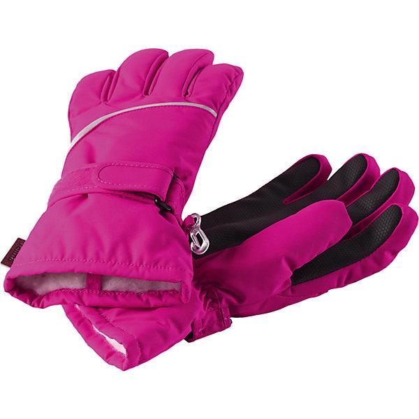 Перчатки Harald для девочки ReimaПерчатки и варежки<br>Перчатки  Reima<br>Зимние перчатки для детей. Водонепроницаемый материал, вставки отсутствуют — товар не является водонепроницаемым. Водо- и ветронепроницаемый и грязеотталкивающий материал. Накладки на ладонях, кончиках пальцев и больших пальцах. Теплая ворсистая подкладка из ткани из смеси шерсти. Средняя степень утепления. Простая застежка на липучке. Логотип Reima® сбоку. Светоотражающие полосы.<br>Утеплитель: Reima® Comfortinsulation,80 g<br>Уход:<br>Стирать по отдельности. Стирать моющим средством, не содержащим отбеливающие вещества. Полоскать без специального средства. Сушить при низкой температуре. <br>Состав:<br>100% Полиамид, полиуретановое покрытие<br>Ширина мм: 162; Глубина мм: 171; Высота мм: 55; Вес г: 119; Цвет: розовый; Возраст от месяцев: 120; Возраст до месяцев: 144; Пол: Женский; Возраст: Детский; Размер: 5,4,3,8,7,6; SKU: 4779792;