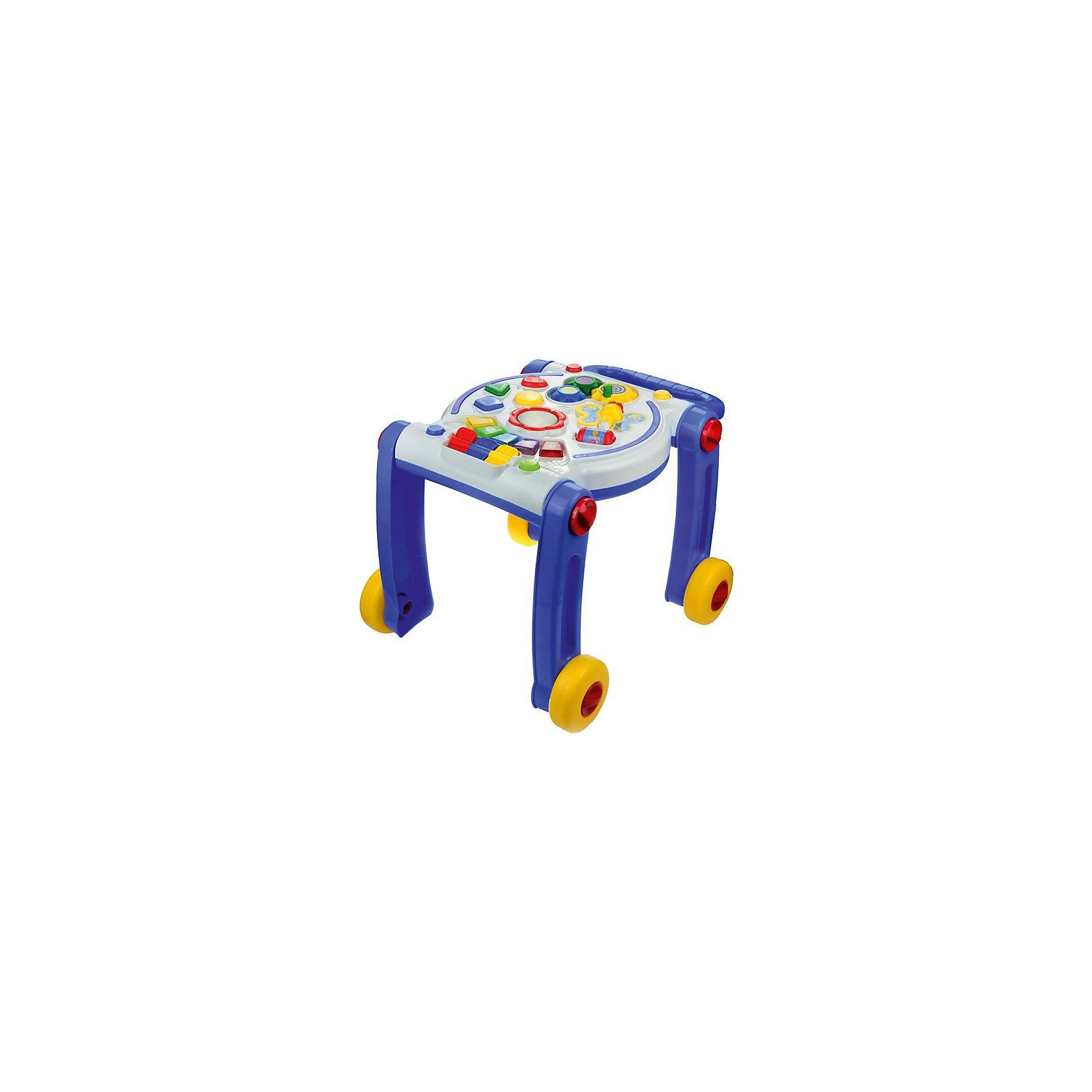 Развивающая игрушка-ходунки Умный кроха, обучение, рус. озвучка,свет,звук, МалышарикиМногофункциональная игрушка Милый кроха развивает мелкую моторику и слуховое восприятие малыша, а так же его логическое мышление. Играя с ходунками, ребёнок учится концентрировать внимание на определённых объектах. Эта весёлая игрушка помогает учить цифры и различать цвета. Оснащена световыми эффектами, а также звуковым сопровождением на русском языке. Выполнена в ярком дизайне и из безопасных материалов.<br><br>Ширина мм: 410<br>Глубина мм: 520<br>Высота мм: 370<br>Вес г: 2745<br>Возраст от месяцев: 12<br>Возраст до месяцев: 36<br>Пол: Унисекс<br>Возраст: Детский<br>SKU: 4779832
