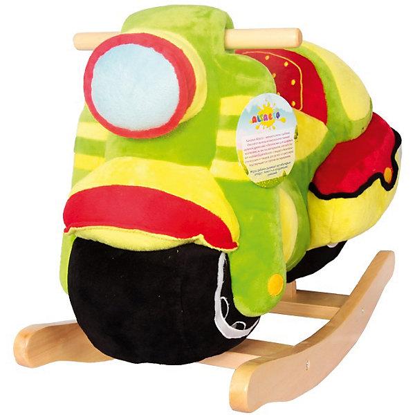 Качалка Мотоцикл, AltactoКаталки и качалки<br>Характеристики товара:<br><br>• возраст: от 3 лет;<br>• размер качалки: 64х29х45 см.;<br>• питание от батареек (входят в комплект);<br>• состав: дерево, текстиль;<br>• упаковка: картонная коробка;<br>• вес в упаковке: 3 кг.;<br>• бренд, страна:  ALTACTO, Китай;<br>• страна-производитель: Китай.<br><br>Качалка Altacto «Мотоцикл» станет первым транспортным средством ребёнка. Играть с ним очень весело: игрушка яркая, мягкая и приятная на ощупь, на передней части мотоцикла расположены кнопка, которая включает и выключает музыку, и пищалка. <br><br>Благодаря спинке сиденье качалки очень комфортное. Игрушка станет хорошей альтернативой обычному стульчику. Качаясь, ребёнок развивает вестибулярный аппарат, ловкость и координацию движений.<br><br>Все качалки Altacto выполнены из высококачественных материалов. Работает от батареек (идут в комплекте).<br><br>Качалка «Мотоцикл», звуковые эффекты, от ALTACTO можно купить в нашем интернет-магазине.<br>Ширина мм: 640; Глубина мм: 295; Высота мм: 450; Вес г: 4100; Возраст от месяцев: 12; Возраст до месяцев: 36; Пол: Унисекс; Возраст: Детский; SKU: 4779833;