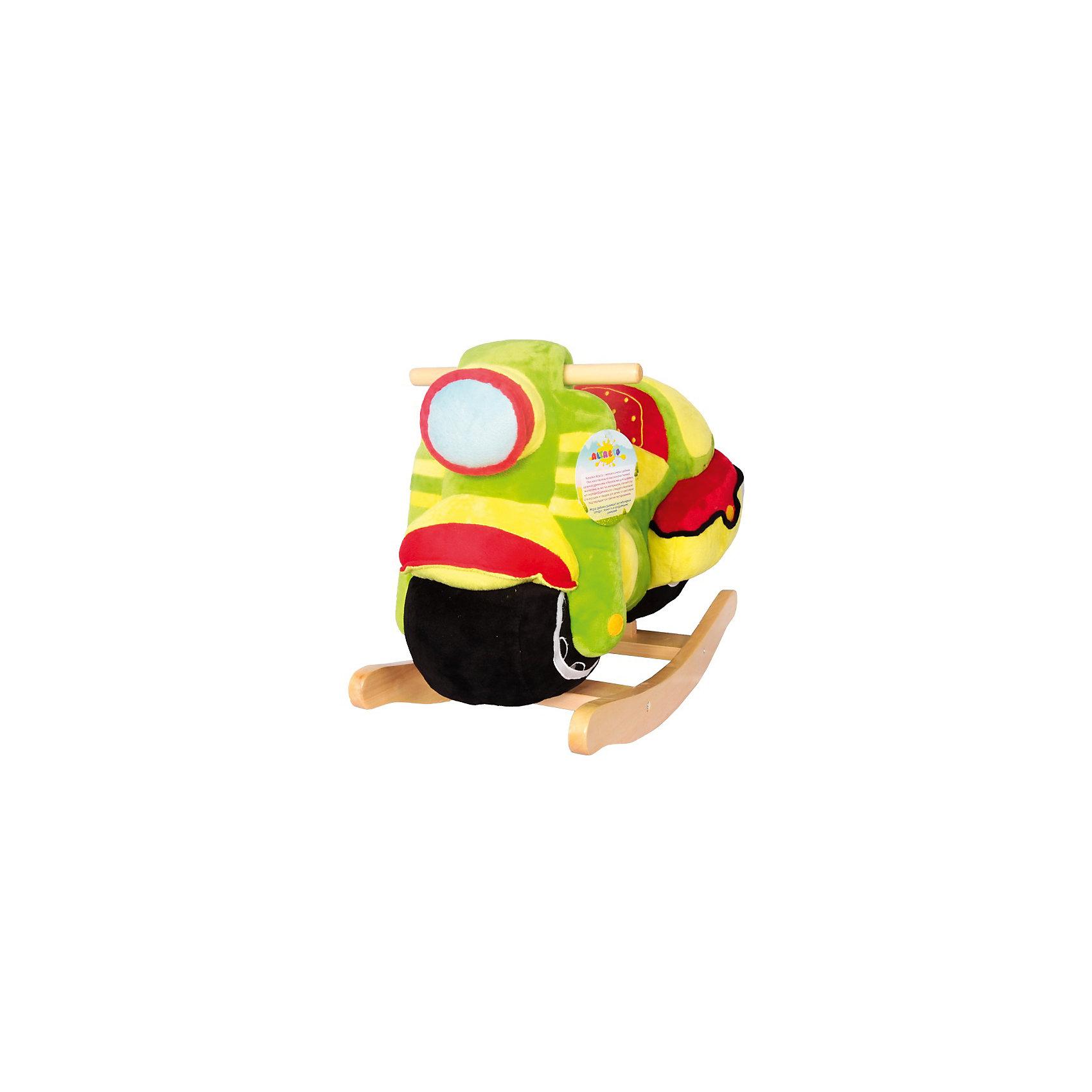 Качалка Мотоцикл, AltactoКачалки<br>Качалка Altacto «Мотоцикл» станет первым транспортным средством ребёнка. Играть с ним очень весело: игрушка яркая, мягкая и приятная на ощупь, на передней части мотоцикла расположены кнопка, которая включает и выключает музыку, и пищалка. <br><br>Благодаря спинке сиденье качалки очень комфортное. Игрушка станет хорошей альтернативой обычному стульчику. <br><br>Качаясь, ребёнок развивает вестибулярный аппарат, ловкость и координацию движений.<br><br>Работает от батареек (идут в комплекте).<br><br>Ширина мм: 640<br>Глубина мм: 295<br>Высота мм: 450<br>Вес г: 4100<br>Возраст от месяцев: 12<br>Возраст до месяцев: 36<br>Пол: Унисекс<br>Возраст: Детский<br>SKU: 4779833
