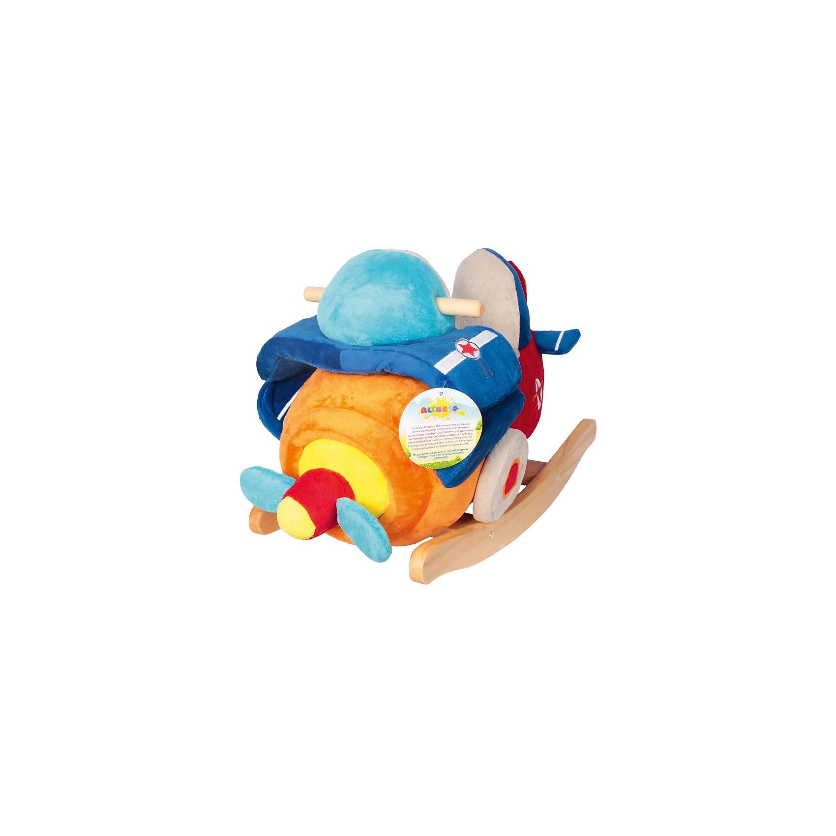 Качалка Самолётик, AltactoКачалки<br>Качалка Altacto выглядит как настоящий летательный аппарат: у него есть пропеллер, крылья, шасси, деревянные ручки и удобное сиденье со спинкой для маленького пилота. <br><br>Самолётик яркий и красивый, выполнен из мягких, приятных на ощупь материалов. На носу игрушки расположена специальная кнопка, с помощью которой можно включать и выключать весёлую песенку.<br><br>Это не только интересная игрушка, но и тренажёр для вестибулярного аппарата. Когда ребёнок качается, у него развиваются координация движения и ловкость. Сидя на самолётике, ребёнок может смотреть мультфильмы или кушать. <br><br>Работает от батареек (идут в комплекте).<br><br>Ширина мм: 620<br>Глубина мм: 295<br>Высота мм: 440<br>Вес г: 4100<br>Возраст от месяцев: 12<br>Возраст до месяцев: 36<br>Пол: Унисекс<br>Возраст: Детский<br>SKU: 4779835
