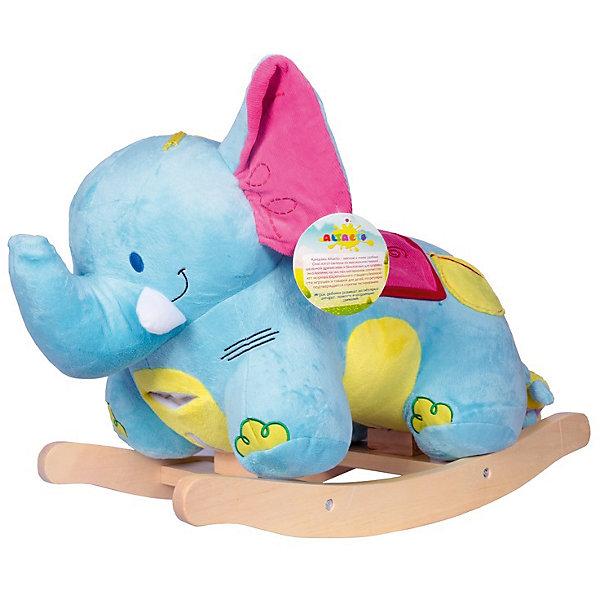 Качалка Слонёнок, AltactoКаталки и качалки<br>Качалка в форме слонёнка станет замечательным подарком малышу. С ней можно играть или использовать в качестве удобного стульчика. Его большие мягкие ушки шуршат, на конце хобота находится пищалка, а на голове – специальная кнопка «нота», нажав на которую, вы услышите весёлую музыку. У слоника есть своя игрушка – мышка, спрятавшаяся в боковом кармашке. <br><br>Качаясь на «Слонёнке», ребёнок не просто весело проводит время – он тренирует вестибулярный аппарат, развивает воображение, ловкость и координацию движений.<br><br>Все качалки Altacto выполнены из высококачественных материалов. <br><br>Работает от батареек (идут в комплекте).<br><br>Ширина мм: 620<br>Глубина мм: 295<br>Высота мм: 440<br>Вес г: 4100<br>Возраст от месяцев: 12<br>Возраст до месяцев: 36<br>Пол: Унисекс<br>Возраст: Детский<br>SKU: 4779836