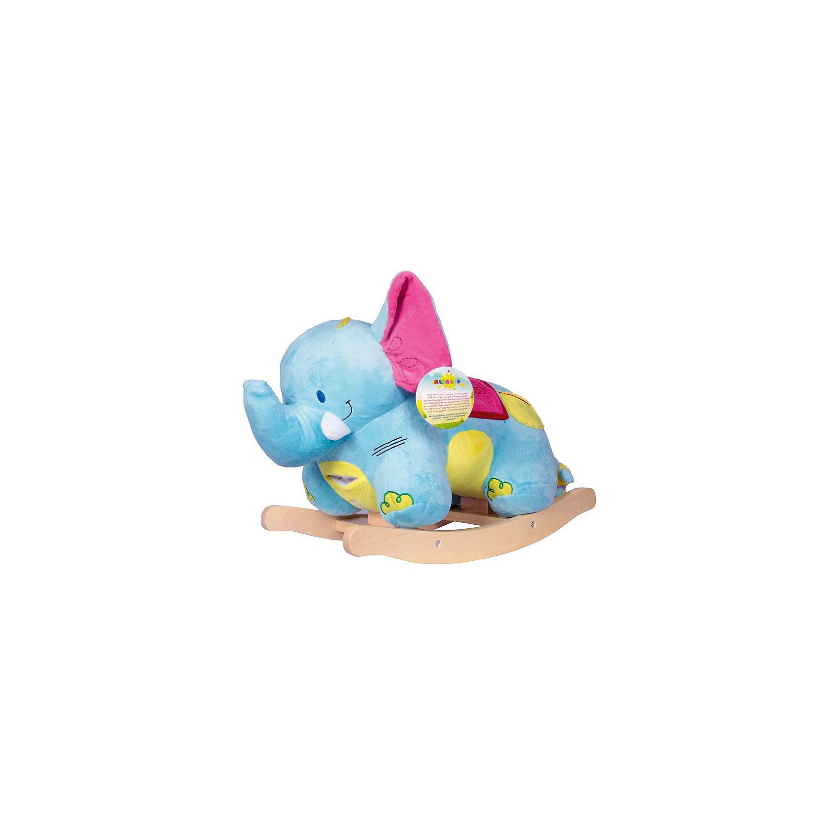 Качалка Слонёнок, AltactoКачалки<br>Качалка в форме слонёнка станет замечательным подарком малышу. С ней можно играть или использовать в качестве удобного стульчика. Его большие мягкие ушки шуршат, на конце хобота находится пищалка, а на голове – специальная кнопка «нота», нажав на которую, вы услышите весёлую музыку. У слоника есть своя игрушка – мышка, спрятавшаяся в боковом кармашке. <br><br>Качаясь на «Слонёнке», ребёнок не просто весело проводит время – он тренирует вестибулярный аппарат, развивает воображение, ловкость и координацию движений.<br><br>Все качалки Altacto выполнены из высококачественных материалов. <br><br>Работает от батареек (идут в комплекте).<br><br>Ширина мм: 620<br>Глубина мм: 295<br>Высота мм: 440<br>Вес г: 4100<br>Возраст от месяцев: 12<br>Возраст до месяцев: 36<br>Пол: Унисекс<br>Возраст: Детский<br>SKU: 4779836