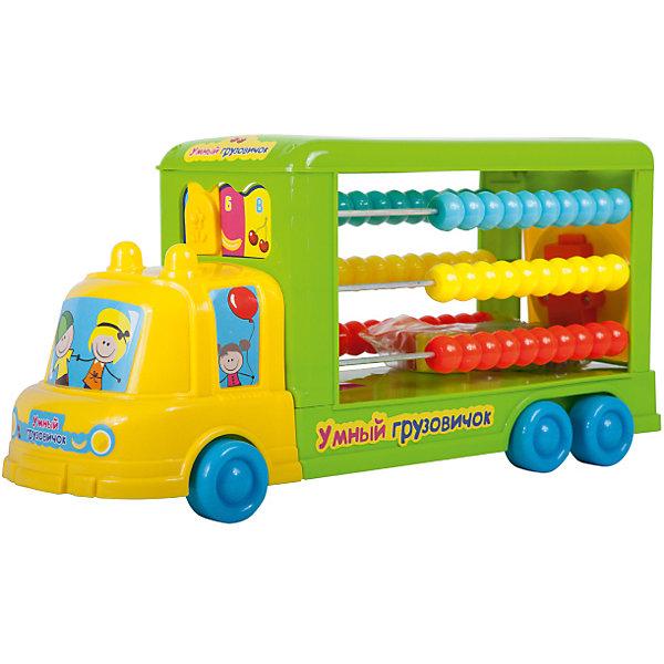 Cортер-каталка Умный грузовичок (счеты, 8 деталей), BebelotРазвивающие игрушки<br>Cортер-каталка Умный грузовичок (счеты, 8 деталей), Bebelot<br><br>Характеристики:<br><br>• Материал: пластик<br>• Возраст: от 3 лет<br>• Размер: 41x14x20 см<br><br>Сортер-каталка это универсальная игрушка, которая сможет с помощью игры научить ребенка цветам, счету и форме. Сзади автобуса специальное поле, в которое ребенок сможет вкладывать детали, сравнивая их по форме. Сбоку же – настоящие счеты, раскрашенные в разные цвета. А легкий ход колесиков поможет ребенку еще и вдоволь поиграть в игрушку, а не только заниматься.<br><br>Cортер-каталка Умный грузовичок (счеты, 8 деталей), Bebelot можно купить в нашем интернет-магазине.<br><br>Ширина мм: 415<br>Глубина мм: 145<br>Высота мм: 200<br>Вес г: 778<br>Возраст от месяцев: 36<br>Возраст до месяцев: 72<br>Пол: Унисекс<br>Возраст: Детский<br>SKU: 4779841