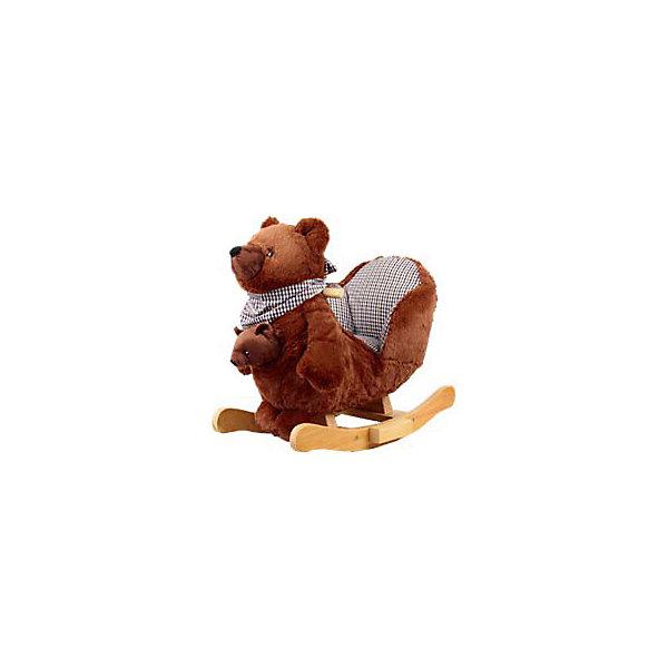 Качалка меховая Медведь, Rock My BabyКачели и качалки<br>Качалка меховая Медведь, Rock My Baby (Рок Май Бэби) ? это игрушка-качалка, разработанная немецким брендом Rock My Baby специально для самых маленьких. Качалки от Рок Май Бэби ? это, прежде всего, безопасность вашего ребенка. Качалка выполнена в форме медведя, на спине которой имеется мягкое креслице со спинкой и бортиками по бокам, поэтому вам не придется беспокоиться о том, что малыш упадет или ударится. Специальная форма дуг защищает качалку от опрокидывания. Качалка меховая Медведь, Rock My Baby (Рок Май Бэби) подходит и для малышей помладше, которые только научились сидеть.<br>Качалка меховая Медведь, Rock My Baby (Рок Май Бэби) изготовлена из мягкого  искусственного меха, внутренняя обивка сиденья – из гипоаллергенного текстиля, ручки-поручни из натурального дерева округлой формы без заострений. Дуги ? из тщательно обработанного дерева. Спереди в кармашке медведя имеется мягкая игрушка – медвежонок. На шее у медведя повязан шейный платок, изготовленный из того же материала, что и внутренняя обивка кресла. Во время раскачивания медведь издает звуки.<br>Качалка меховая Медведь, Rock My Baby (Рок Май Бэби) ? предназначена для подвижных игр, качаясь на ней, у ребенка улучшается физическая форма и тренируется вестибулярный аппарат, да и само по себе качание на лошадке ? увлекательное времяпрепровождение!<br><br>Дополнительная информация:<br><br>- Вид игр: подвижные <br>- Предназначение: для дома, для детских садов, для детских развивающих центров<br>- Материал: искусственный мех, текстиль, дерево<br>- Размер (Д*Ш*В): 54*45*21 см<br>- Вес: 4 кг 600 г<br>- Максимальная нагрузка на игрушку: до 30 кг<br>- Особенности ухода: разрешается протирать влажной губкой, пылесосить<br><br>Подробнее:<br><br>• Для детей в возрасте: от 1 года и до 3 лет<br>• Страна производитель: Китай<br>• Торговый бренд: Rock My Baby<br><br>Качалку меховую Медвежонок, Rock My Baby (Рок Май Бэби) можно купить в нашем интернет-магазине.<br>Ши