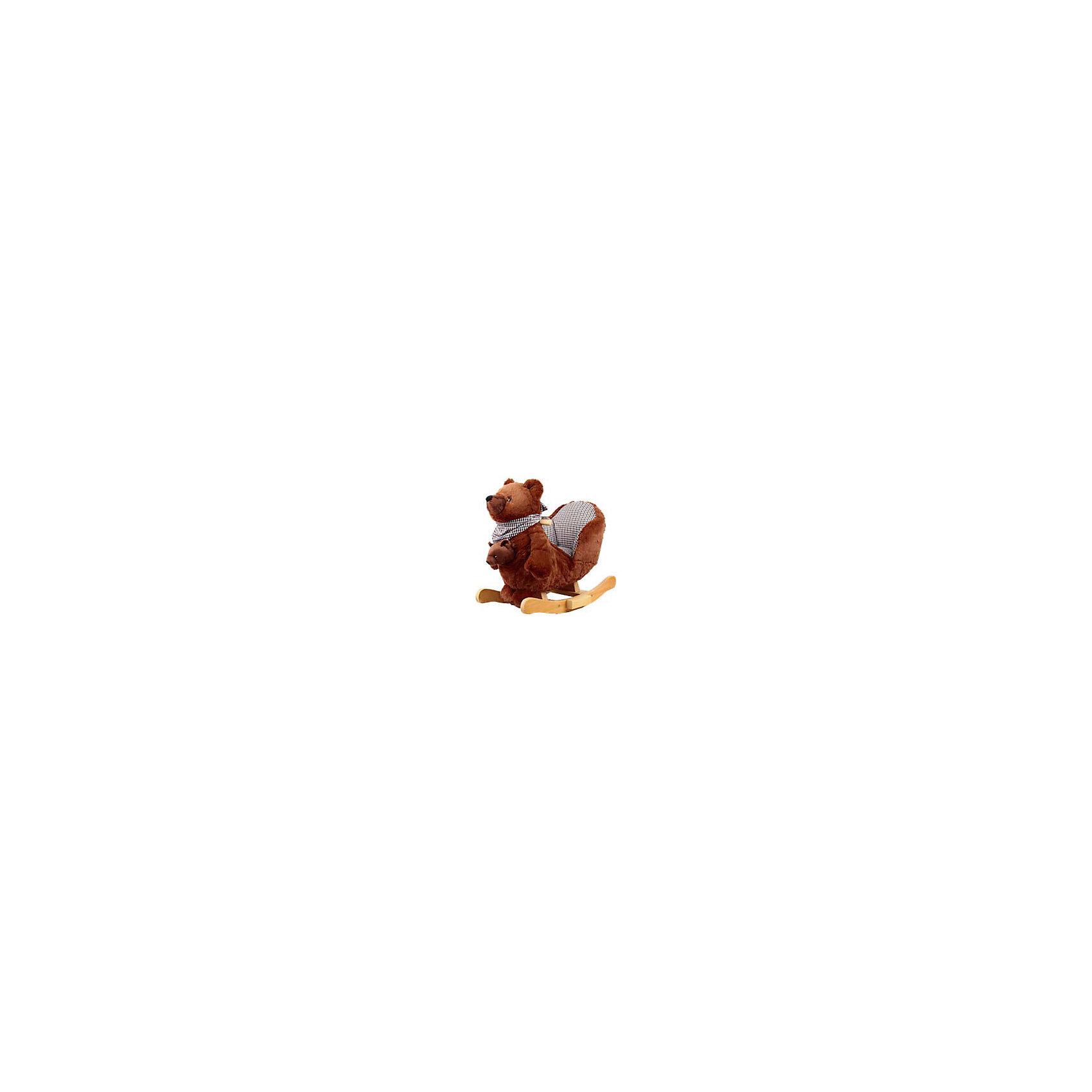 Качалка меховая Медведь, Rock My BabyКачели и качалки<br>Качалка меховая Медведь, Rock My Baby (Рок Май Бэби) ? это игрушка-качалка, разработанная немецким брендом Rock My Baby специально для самых маленьких. Качалки от Рок Май Бэби ? это, прежде всего, безопасность вашего ребенка. Качалка выполнена в форме медведя, на спине которой имеется мягкое креслице со спинкой и бортиками по бокам, поэтому вам не придется беспокоиться о том, что малыш упадет или ударится. Специальная форма дуг защищает качалку от опрокидывания. Качалка меховая Медведь, Rock My Baby (Рок Май Бэби) подходит и для малышей помладше, которые только научились сидеть.<br>Качалка меховая Медведь, Rock My Baby (Рок Май Бэби) изготовлена из мягкого  искусственного меха, внутренняя обивка сиденья – из гипоаллергенного текстиля, ручки-поручни из натурального дерева округлой формы без заострений. Дуги ? из тщательно обработанного дерева. Спереди в кармашке медведя имеется мягкая игрушка – медвежонок. На шее у медведя повязан шейный платок, изготовленный из того же материала, что и внутренняя обивка кресла. Во время раскачивания медведь издает звуки.<br>Качалка меховая Медведь, Rock My Baby (Рок Май Бэби) ? предназначена для подвижных игр, качаясь на ней, у ребенка улучшается физическая форма и тренируется вестибулярный аппарат, да и само по себе качание на лошадке ? увлекательное времяпрепровождение!<br><br>Дополнительная информация:<br><br>- Вид игр: подвижные <br>- Предназначение: для дома, для детских садов, для детских развивающих центров<br>- Материал: искусственный мех, текстиль, дерево<br>- Размер (Д*Ш*В): 54*45*21 см<br>- Вес: 4 кг 600 г<br>- Максимальная нагрузка на игрушку: до 30 кг<br>- Особенности ухода: разрешается протирать влажной губкой, пылесосить<br><br>Подробнее:<br><br>• Для детей в возрасте: от 1 года и до 3 лет<br>• Страна производитель: Китай<br>• Торговый бренд: Rock My Baby<br><br>Качалку меховую Медвежонок, Rock My Baby (Рок Май Бэби) можно купить в нашем интернет-магазине.<br><b
