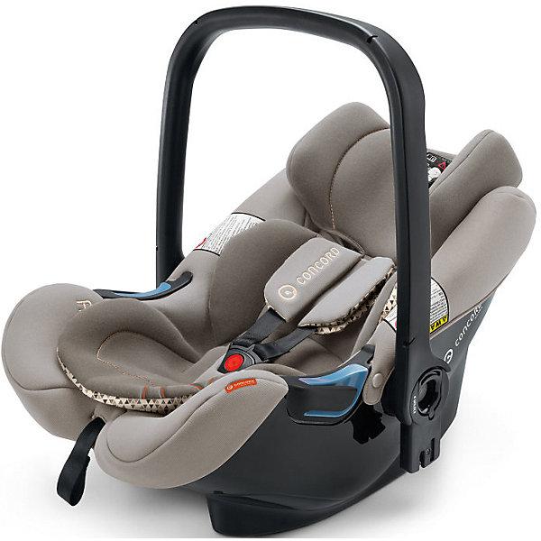 Автокресло Concord Air.Safe, 0-13кг, Cool BeigeГруппа 0+  (до 13 кг)<br>Характеристики автокресла:<br><br>• группа автокресла: 0+ ;<br>• возраст ребенка: от рождения до года;<br>• вес ребенка: до 13 кг;<br>• способ установки: против хода движения автомобиля;<br>• способ крепления: база Isofix или при помощи ремней безопасности;<br>• автокресло может быть установлено на рамы колясок от Concord серий Fusion и Neo;<br>• кнопка системы TS упрощает процесс установки кресла на базу или шасси коляски;<br>• победитель краш-тестов 2014 ADAC.<br><br>Особенности автокресла:<br><br>• высокие боковины для защиты от боковых ударов;<br>• подголовник эргономической формы регулируется в 3-х положениях по высоте;<br>• регулировка ручки для переноски;<br>• мягкий, дышащий гипоаллергенный материал;<br>• съемные чехлы, можно стирать при 30С.<br><br>Размеры:<br><br>• размер автокресла 63х44х57 см;<br>• вес автокрела: 2,9 кг;<br>• размер упаковки: 35х68х45 см;<br>• вес в упаковке: 4,5 кг.<br><br>Дополнительная комплектация:<br><br>• козырек от солнечных лучей;<br>• двухсторонний вкладыш для новорожденного;<br>• адаптер для установки автокресла на коляски с унифицированным креплением Maxi-Cosi.<br><br>Автокресло Air.Safe, 0-13 кг., Concord, Cool Beige можно купить в нашем интернет-магазине.<br><br>Ширина мм: 350<br>Глубина мм: 450<br>Высота мм: 680<br>Вес г: 4500<br>Цвет: серый<br>Возраст от месяцев: 0<br>Возраст до месяцев: 18<br>Пол: Унисекс<br>Возраст: Детский<br>SKU: 4779868
