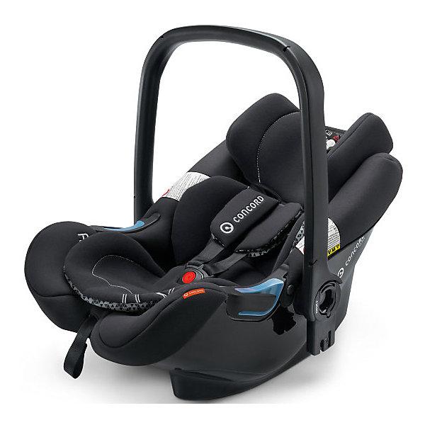 Автокресло Concord Air.Safe, 0-13кг, Midnight BlackГруппа 0+  (до 13 кг)<br>Характеристики автокресла:<br><br>• группа автокресла: 0+ ;<br>• возраст ребенка: от рождения до года;<br>• вес ребенка: до 13 кг;<br>• способ установки: против хода движения автомобиля;<br>• способ крепления: база Isofix или при помощи ремней безопасности;<br>• автокресло может быть установлено на рамы колясок от Concord серий Fusion и Neo;<br>• кнопка системы TS упрощает процесс установки кресла на базу или шасси коляски;<br>• победитель краш-тестов 2014 ADAC.<br><br>Особенности автокресла:<br><br>• высокие боковины для защиты от боковых ударов;<br>• подголовник эргономической формы регулируется в 3-х положениях по высоте;<br>• регулировка ручки для переноски;<br>• мягкий, дышащий гипоаллергенный материал;<br>• съемные чехлы, можно стирать при 30С.<br><br>Размеры:<br><br>• размер автокресла 63х44х57 см;<br>• вес автокрела: 2,9 кг;<br>• размер упаковки: 35х68х45 см;<br>• вес в упаковке: 4,5 кг.<br><br>Дополнительная комплектация:<br><br>• козырек от солнечных лучей;<br>• двухсторонний вкладыш для новорожденного;<br>• адаптер для установки автокресла на коляски с унифицированным креплением Maxi-Cosi.<br><br>Автокресло Air.Safe, 0-13 кг., Concord, Midnight Black можно купить в нашем интернет-магазине.<br>Ширина мм: 350; Глубина мм: 450; Высота мм: 680; Вес г: 4500; Цвет: черный; Возраст от месяцев: 0; Возраст до месяцев: 18; Пол: Унисекс; Возраст: Детский; SKU: 4779870;