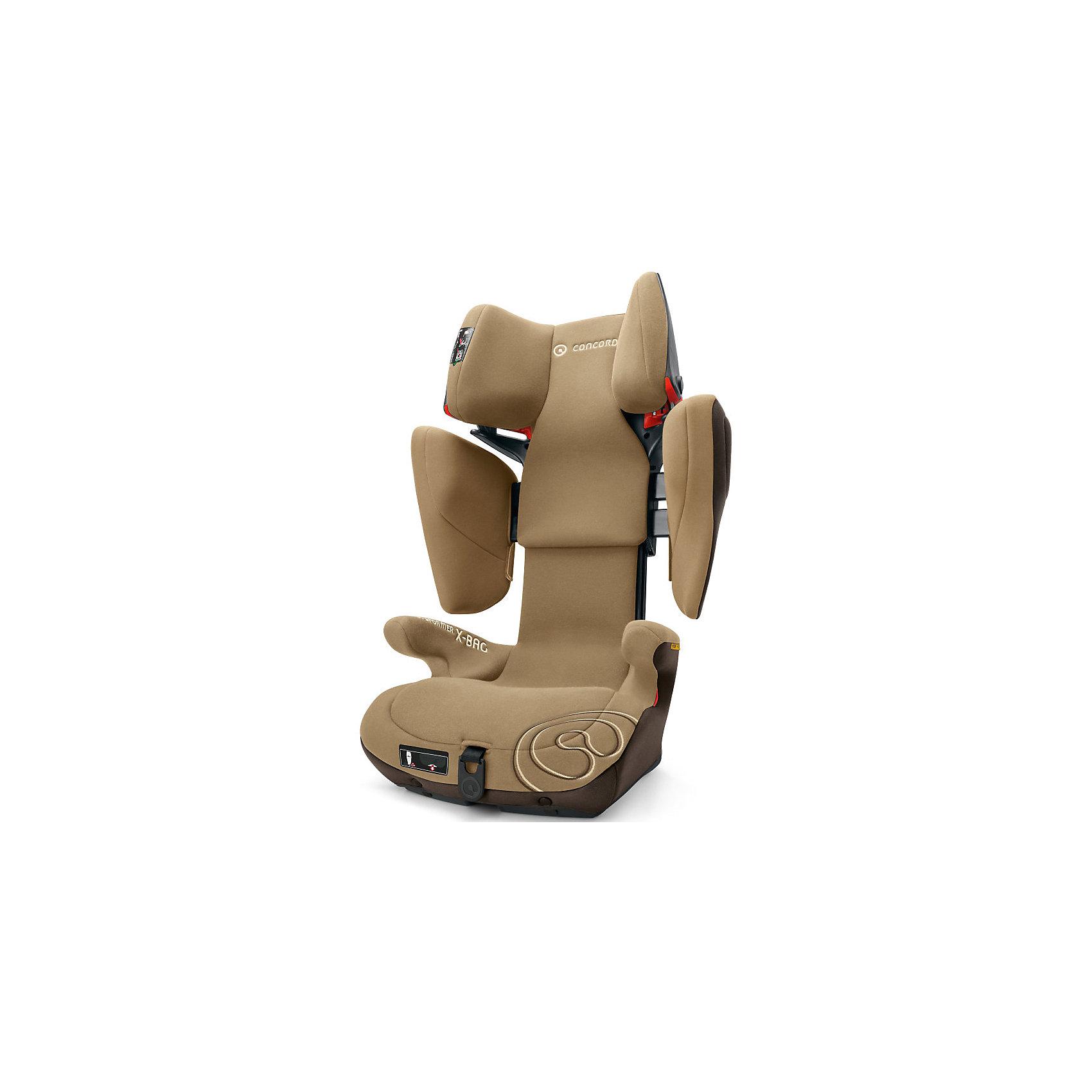 Автокресло Transformer X-BAG, 15-36 кг., Concord, Walnut Brown 2016Автокресло Transformer X-BAG, 15-36 кг., Concord, Walnut Brown 2016 - модель, которая гарантирует комфорт и безопасность ребенка.<br>Безопасное, комфортное автомобильное кресло Transformer X-BAG, Concord отличается современным дизайном, прочной подуманной конструкцией и системой регулировок. Каркас из прочного пластика не лопается при ударе и надежно защищает ребенка. Объемные и высокие боковины в области головы и плеч являются отличительной и уникальной чертой автокресла Transformer X-BAG. Подголовник и боковины автокресла наполнены специальным абсорбирующим материалом, который гасит энергию при ударе. Специальная конструкция подголовника надежно защищает ребенка при заднем и боковом ударе. Анатомическая форма автокресла и мягкое сидение идеально подходят для комфортного путешествия. За счёт использования пневмо-механизма увеличить высоту подголовника (20 положений) и расширить боковины можно нажатием на одну кнопку. Автокресло крепится в автомобиле с помощью штатного ремня безопасности автомобиля и крепления Latch. Направляющие ремня в подголовнике имеют защёлку, которая предотвращает его самопроизвольное выпадение. В автокреслах Transformer X-BAG, Concord сочетаются разные типы тканей обивки: мягкая гипоаллергенная приятная для кожи малыша ткань подголовника; износоустойчивый материал устойчивый к трению с антискользящим эффектом на спинке и на нижней части кресла. Все материалы воздухопроницаемые. Обивка из высококачественных материалов, легко снимается и стирается в режиме деликатной стирки при температуре 30 градусах.<br><br>Дополнительная информация:<br><br>- Группа 2-3 от 3 до 12 лет (15-36 кг)<br>- Максимальная ширина в плечах: 38 см.<br>- Ширина в подлокотниках: 36 см.<br>- Внешние размеры: 45?45-55?63-82 см.<br>- Внутренние размеры: 28х32-52х 32 см.<br>- Вес: 7,7 кг.<br>- Корпус из ABC пластика<br>- Соответствует стандарту ECE R 44/04<br>- Направление установки: по ходу движения автомобиля