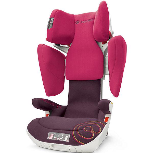 Автокресло Concord Transformer XT, 15-36 кг, Rose Pink 2016Автокресла с креплением Isofix<br>Характеристики автокресла:<br><br>• группа 2-3;<br>• возраст ребенка: от 3 до 12 лет;<br>• вес ребенка: 15-36 кг;<br>• способ установки: по ходу движения автомобиля;<br>• 2 способа крепления: система TWINFIX или штатные ремни безопасности;<br>• компактный ударопрочный каркас;<br>• защита от боковых ударов;<br>• регулировка наклона спинки;<br>• регулировка подголовника;<br>• регулировка размера кресла;<br>• ортопедические свойства спинки и основания;<br>• встроенный пневмопривод;<br>• размер автокресла: 46х49х62 см;<br>• высота подголовника: 62-82 см;<br>• вес автокресла: 9,9 кг;<br>• вес в упаковке: 11 кг;<br>• материал: пластик, полиэстер;<br>• стандарт безопасности: ECE R44/04.<br><br>Автокресло Concord Transformer XT имеет прочный каркас, который надежно защищает ребенка во время поездки. Боковые подушки имеют дополнительный слой энергопоглощающей изоляции, которая понижает силу удара. Автокресло с ортопедической спинкой, которая способствует правильному формированию позвоночника. Наполнитель автокресла Трансформер ИксТи обладает эффектом памяти, который со временем принимает форму тела ребенка.<br><br>Установка автокресла: устанавливается по ходу движения с помощью системы isofix. Ребенок в автокресле фиксируется штатным ремнем автомобиля. При отсутствии крепления isofix можно установить автокресло при помощи штатных ремней безопасности. Направляющие с защелками для ремня в подголовнике исключают его самопроизвольное выпадение.<br><br>Автокресло Transformer XT, 15-36 кг., Concord, Rose Pink можно купить в нашем интернет-магазине.<br><br>Ширина мм: 450<br>Глубина мм: 450<br>Высота мм: 640<br>Вес г: 11000<br>Цвет: розовый<br>Возраст от месяцев: 36<br>Возраст до месяцев: 144<br>Пол: Женский<br>Возраст: Детский<br>SKU: 4779883