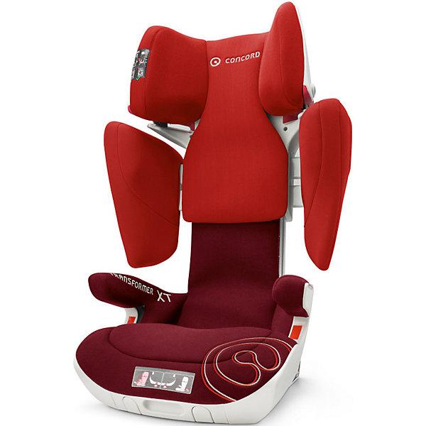 Автокресло Concord Transformer XT, 15-36 кг, Tomato Red 2016Автокресла с креплением Isofix<br>Характеристики автокресла:<br><br>• группа 2-3;<br>• возраст ребенка: от 3 до 12 лет;<br>• вес ребенка: 15-36 кг;<br>• способ установки: по ходу движения автомобиля;<br>• 2 способа крепления: система TWINFIX или штатные ремни безопасности;<br>• компактный ударопрочный каркас;<br>• защита от боковых ударов;<br>• регулировка наклона спинки;<br>• регулировка подголовника;<br>• регулировка размера кресла;<br>• ортопедические свойства спинки и основания;<br>• встроенный пневмопривод;<br>• размер автокресла: 46х49х62 см;<br>• высота подголовника: 62-82 см;<br>• вес автокресла: 9,9 кг;<br>• вес в упаковке: 11 кг;<br>• материал: пластик, полиэстер;<br>• стандарт безопасности: ECE R44/04.<br><br>Автокресло Concord Transformer XT имеет прочный каркас, который надежно защищает ребенка во время поездки. Боковые подушки имеют дополнительный слой энергопоглощающей изоляции, которая понижает силу удара. Автокресло с ортопедической спинкой, которая способствует правильному формированию позвоночника. Наполнитель автокресла Трансформер ИксТи обладает эффектом памяти, который со временем принимает форму тела ребенка.<br><br>Установка автокресла: устанавливается по ходу движения с помощью системы isofix. Ребенок в автокресле фиксируется штатным ремнем автомобиля. При отсутствии крепления isofix можно установить автокресло при помощи штатных ремней безопасности. Направляющие с защелками для ремня в подголовнике исключают его самопроизвольное выпадение.<br><br>Автокресло Transformer XT, 15-36 кг., Concord, Tomato Red можно купить в нашем интернет-магазине.<br><br>Ширина мм: 450<br>Глубина мм: 450<br>Высота мм: 640<br>Вес г: 11000<br>Цвет: красный<br>Возраст от месяцев: 36<br>Возраст до месяцев: 144<br>Пол: Унисекс<br>Возраст: Детский<br>SKU: 4779884