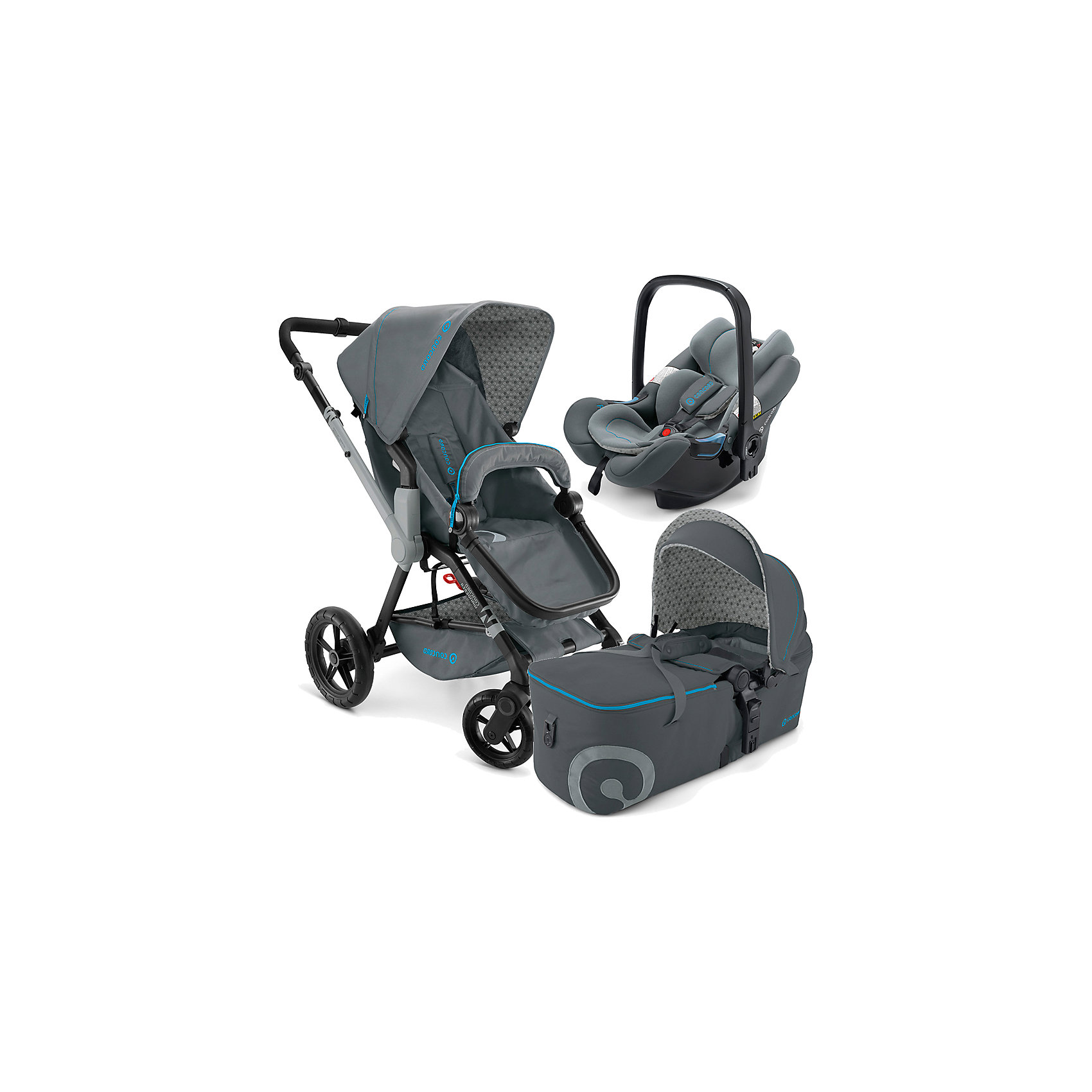 Concord Коляска 3 в 1 Wanderer Mobility Set, Concord, Stone Grey 2015 все цены