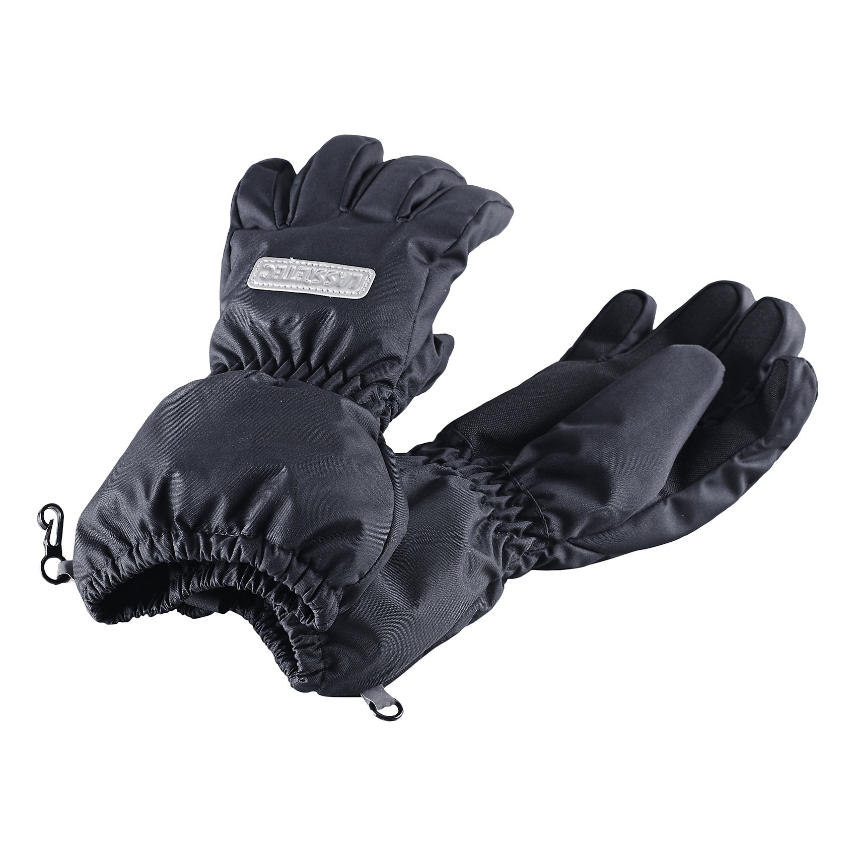 Перчатки LASSIEПерчатки, варежки<br>Зимние перчатки для детей Lassietec®.<br><br>- Водонепроницаемая вставка. Водо- и ветронепроницаемый «дышащий» материал. <br>- Накладки на ладонях и больших пальцах.<br>- Подкладка из полиэстера с начесом.<br>- Средняя степень утепления. <br>- Светоотражающая эмблема Lassie®.  <br><br>Рекомендации по уходу: Полоскать без специального средства. Сушить при низкой температуре. <br><br>Состав: 100% Полиамид, полиуретановое покрытие.  Утеплитель «Lassie wadding» 120гр.<br><br>Ширина мм: 162<br>Глубина мм: 171<br>Высота мм: 55<br>Вес г: 119<br>Цвет: черный<br>Возраст от месяцев: 120<br>Возраст до месяцев: 144<br>Пол: Унисекс<br>Возраст: Детский<br>Размер: 6,3,4,5<br>SKU: 4780563