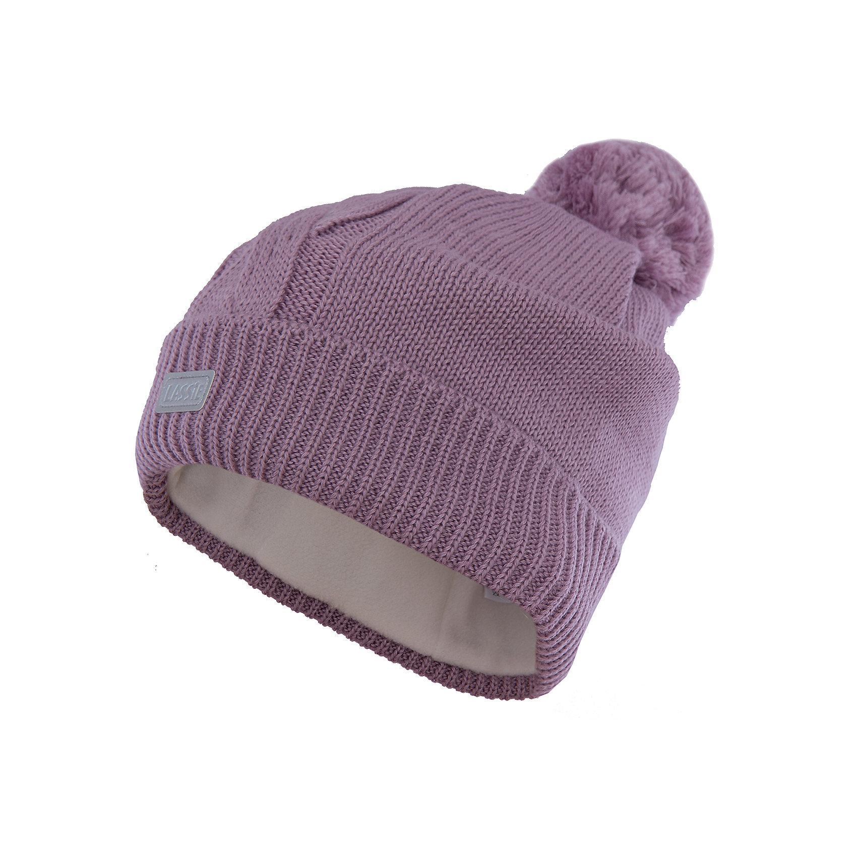 Шапка LASSIEШапки и шарфы<br>Шапка «Бини» для детей известной финской марки.<br><br>- Мягкая и теплая ткань из смеси шерсти.<br><br>- Ветронепроницаемые вставки в области ушей.<br>- Мягкая теплая подкладка из флиса. <br>- Помпон сверху. <br>- Декоративная структура поверхности. <br>- Светоотражающая эмблема Lassie® спереди.  <br><br>Рекомендации по уходу: Придать первоначальную форму вo влажном виде. <br><br>Возможна усадка 5 %.Состав: 50% Шерсть, 50% полиакрил.<br><br>Ширина мм: 89<br>Глубина мм: 117<br>Высота мм: 44<br>Вес г: 155<br>Цвет: фиолетовый<br>Возраст от месяцев: 12<br>Возраст до месяцев: 24<br>Пол: Женский<br>Возраст: Детский<br>Размер: 46-48,54-56,50-52<br>SKU: 4780685